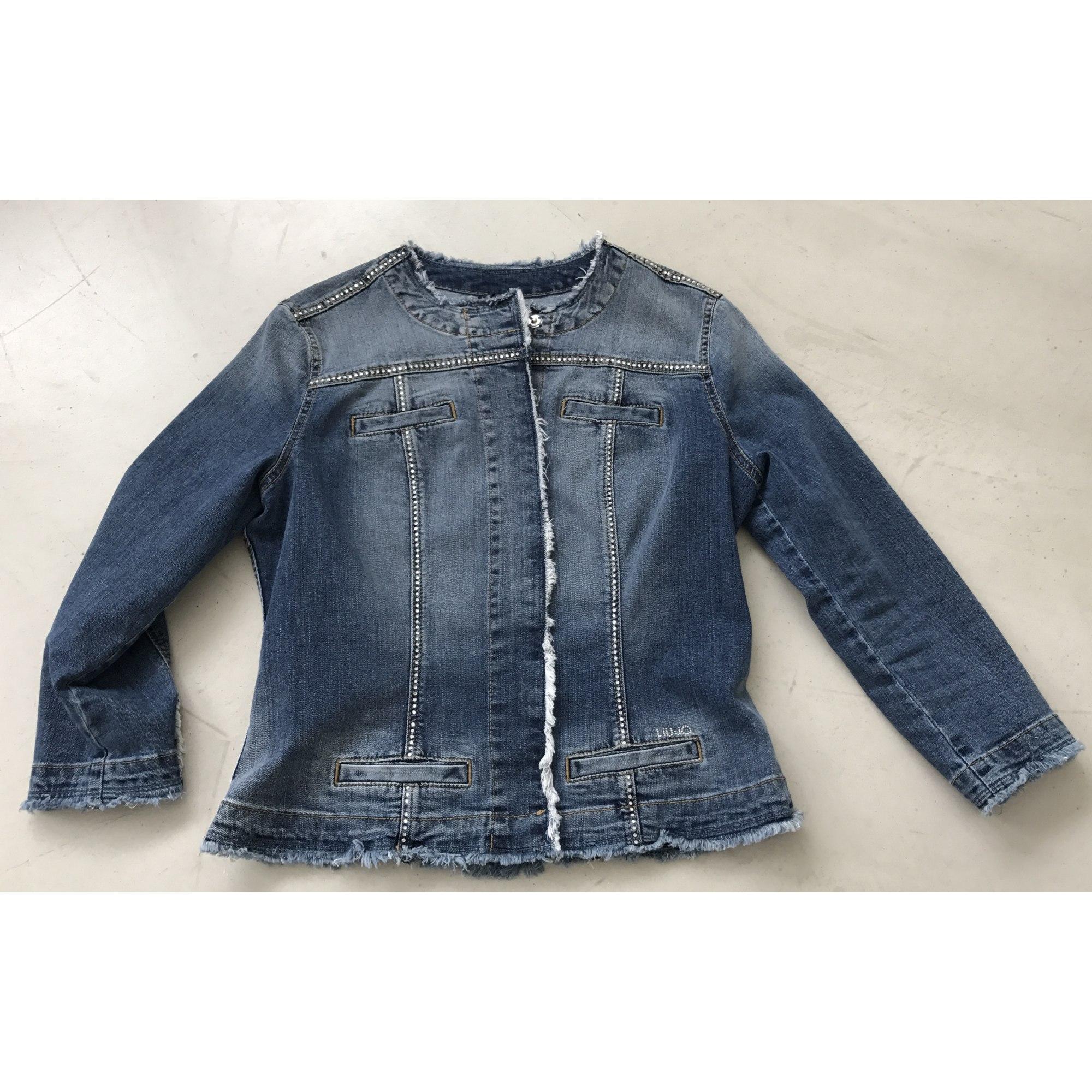 Veste en jean LIU JO 44 (XL/XXL, T5) bleu