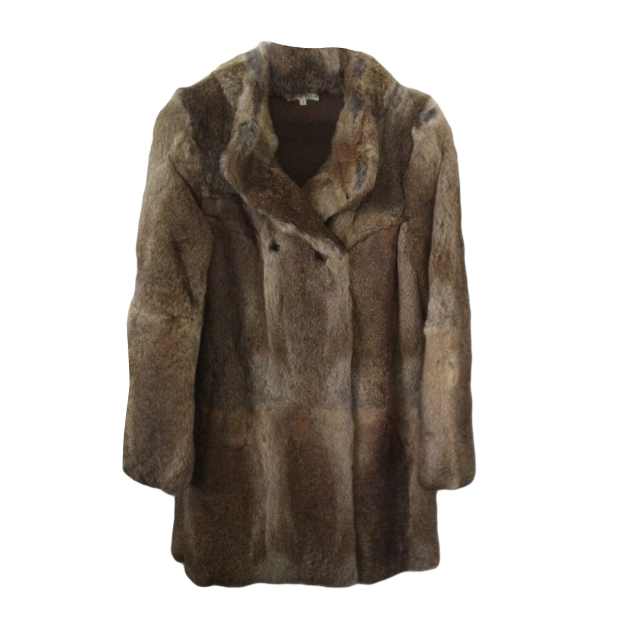 Fur Coat BA&SH Beige, camel