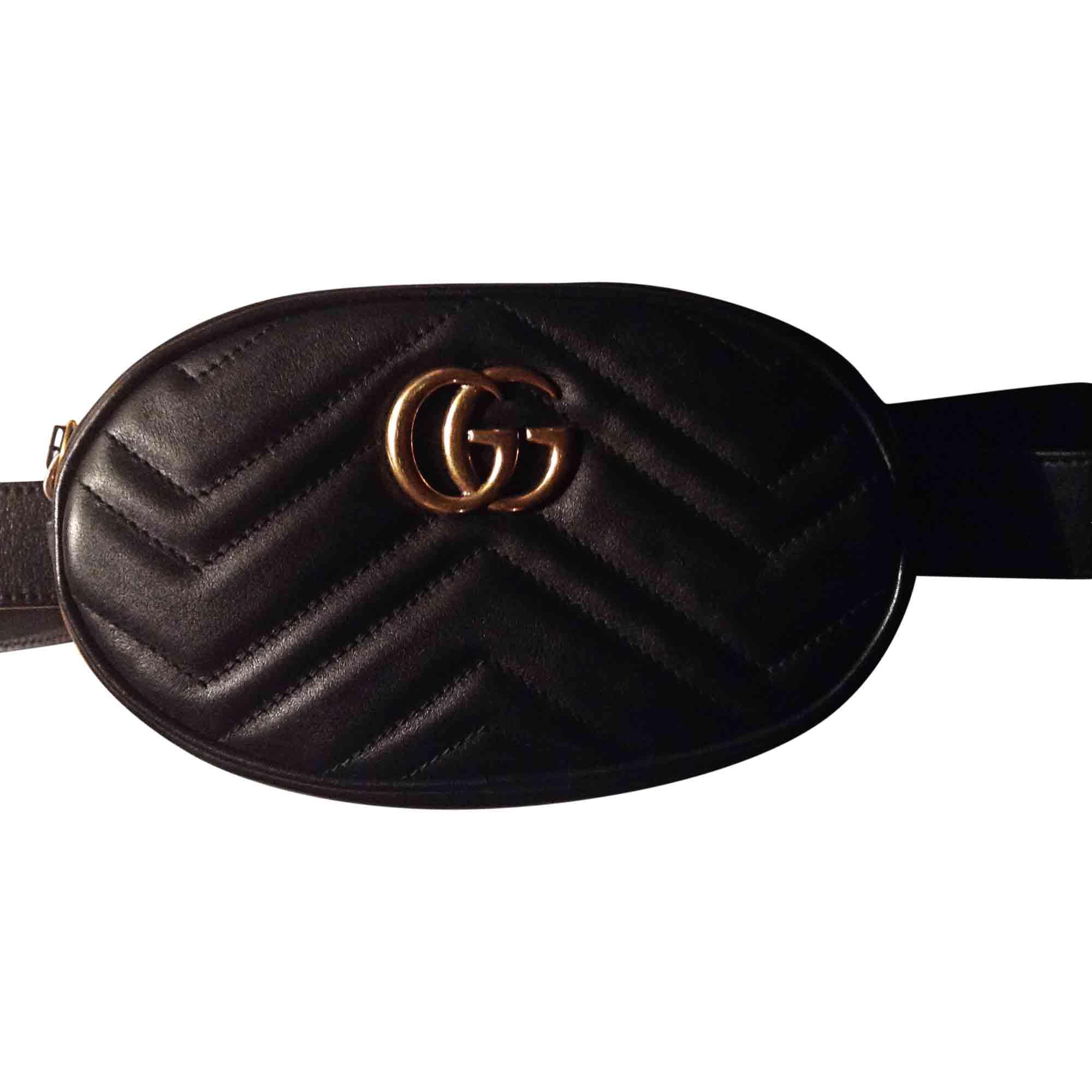 85fc0d91fafb Sac pochette en cuir GUCCI marmont noir vendu par Jonathan 52593296 ...