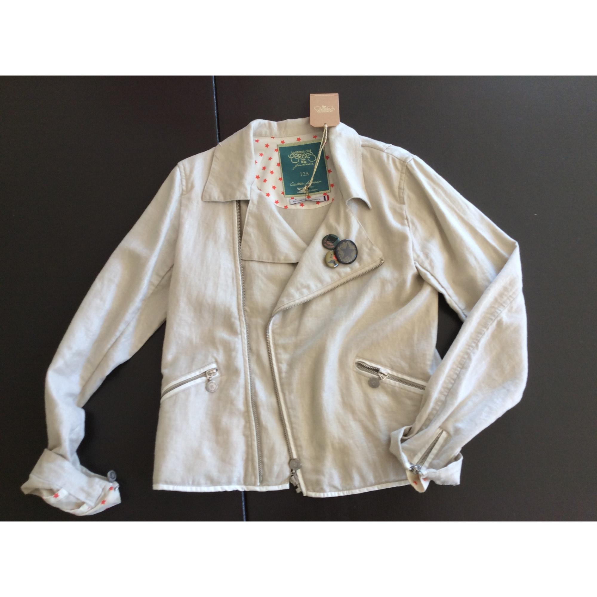 Veste LE TEMPS DES CERISES coton blanc 11-12 ans