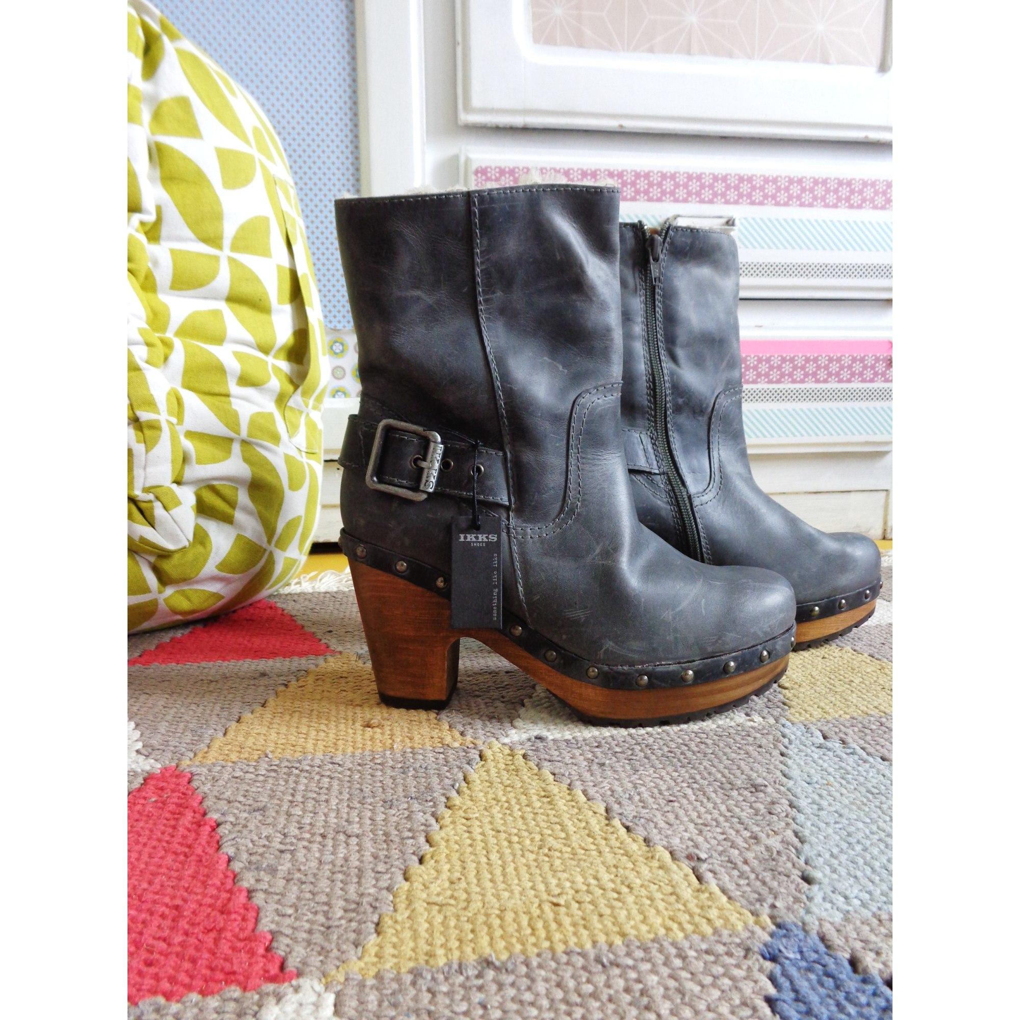 d83debd0202a4e Bottines & low boots à talons IKKS 38 gris - 6636522