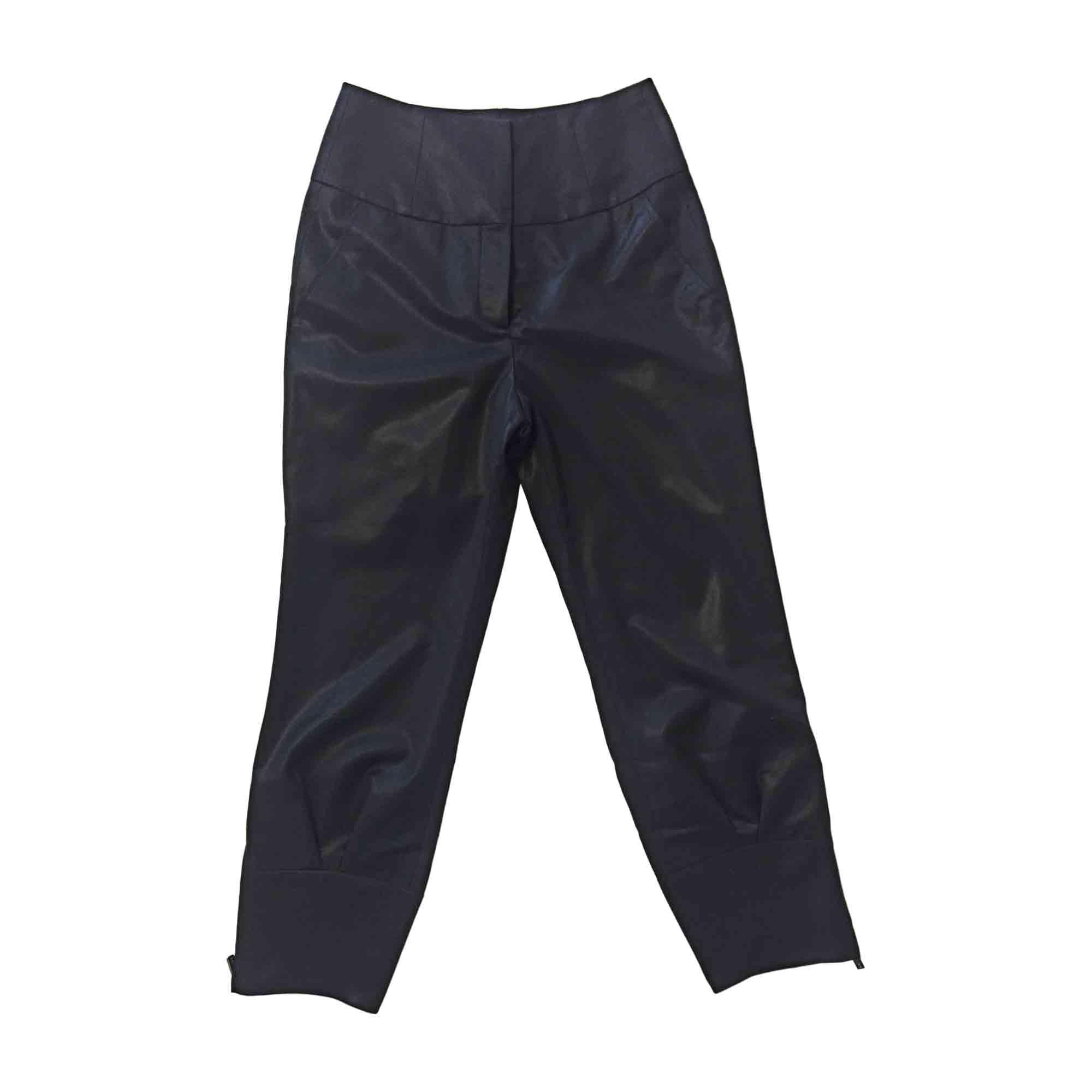 Pantalon carotte CÉLINE Noir