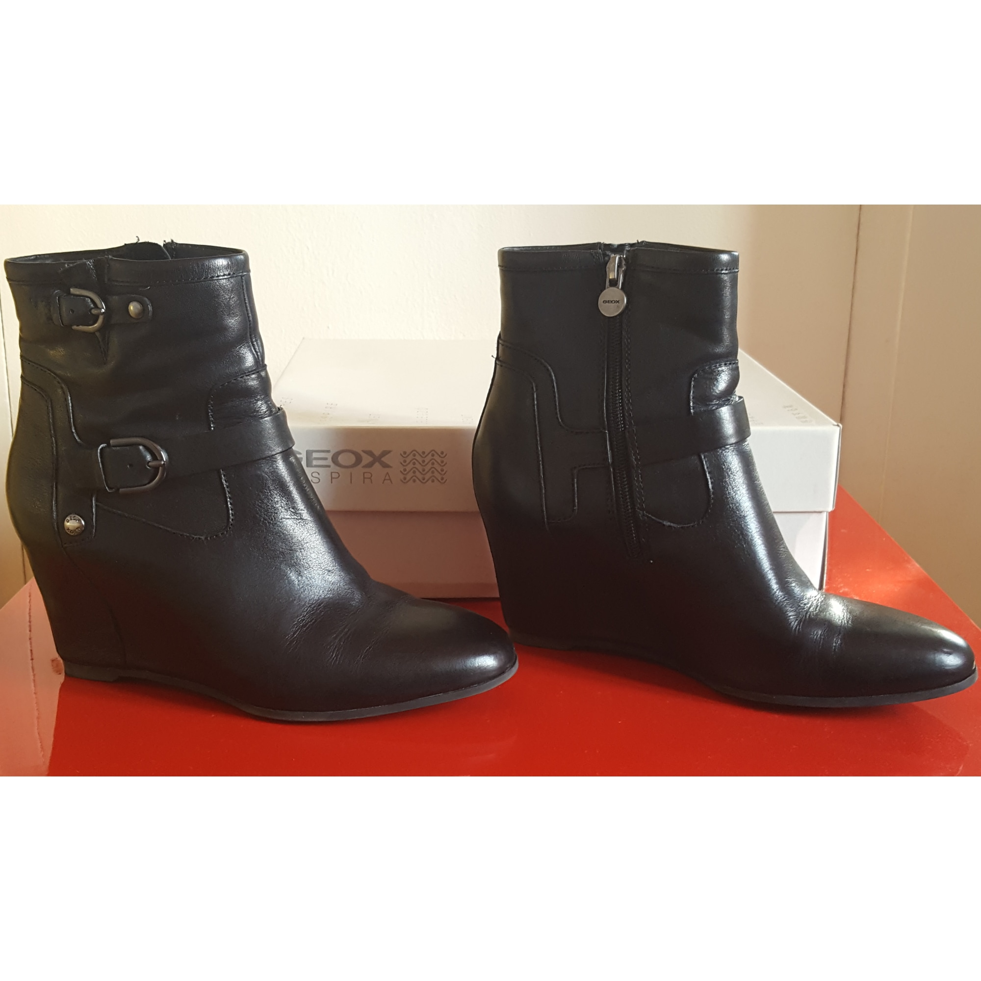 a96ce9f7097dbf Bottines & low boots à compensés GEOX 39 noir vendu par Mi24 - 6684172