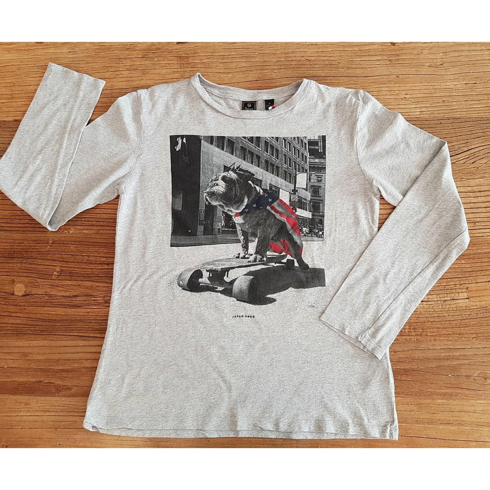 5593a1103fd78 Tee-shirt JAPAN RAGS 11-12 ans gris - 6684403