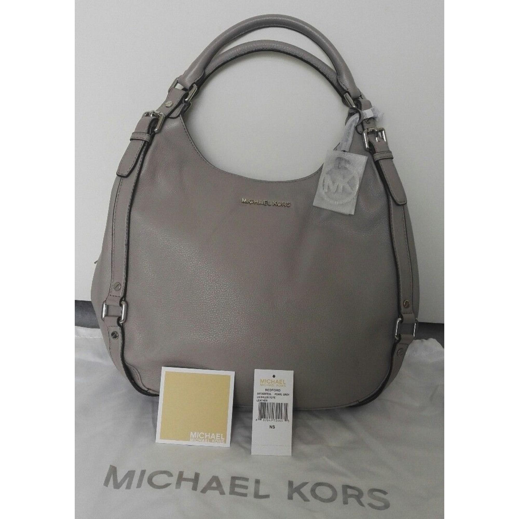 0e799714d18fc Sac à main en cuir MICHAEL KORS gris - 6685338