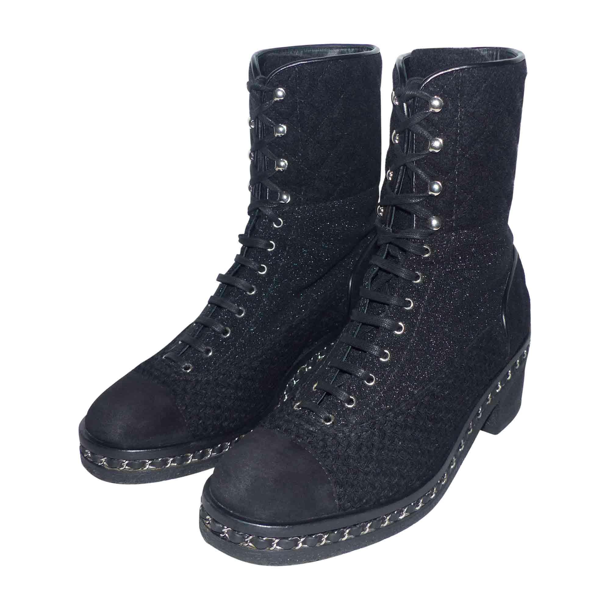 Chaussures à lacets CHANEL 41 noir vendu par Jannet12 - 6699360 2c79fdfeeef
