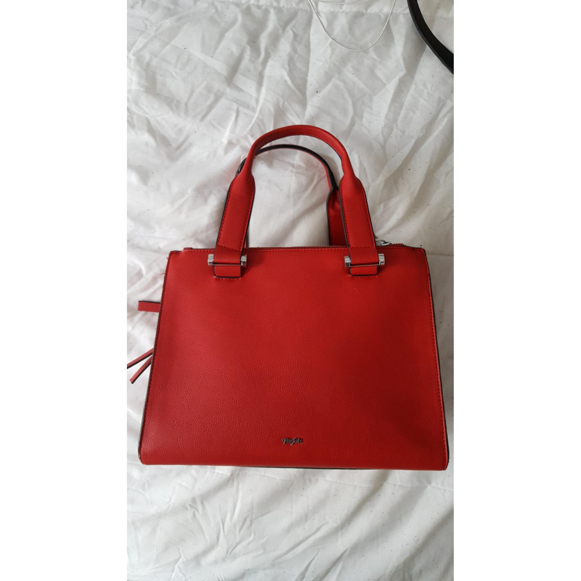 3dcfbfb22b Sac à main en cuir PARFOIS rouge vendu par Stéphanie t - 6706711