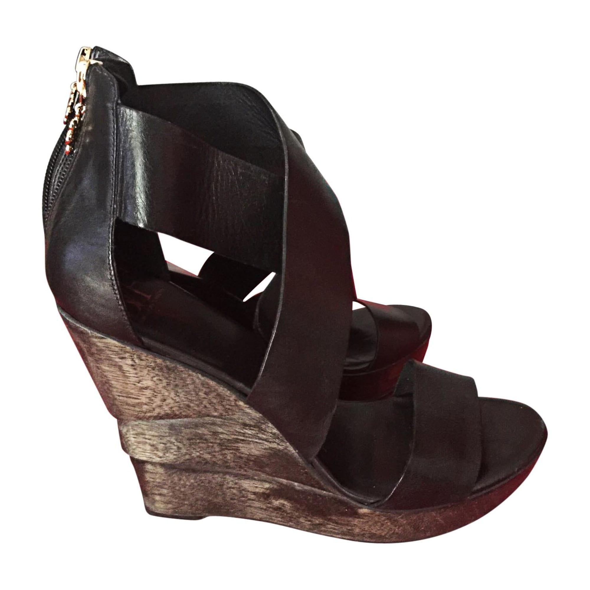 Sandales compensées DIANE VON FURSTENBERG Noir