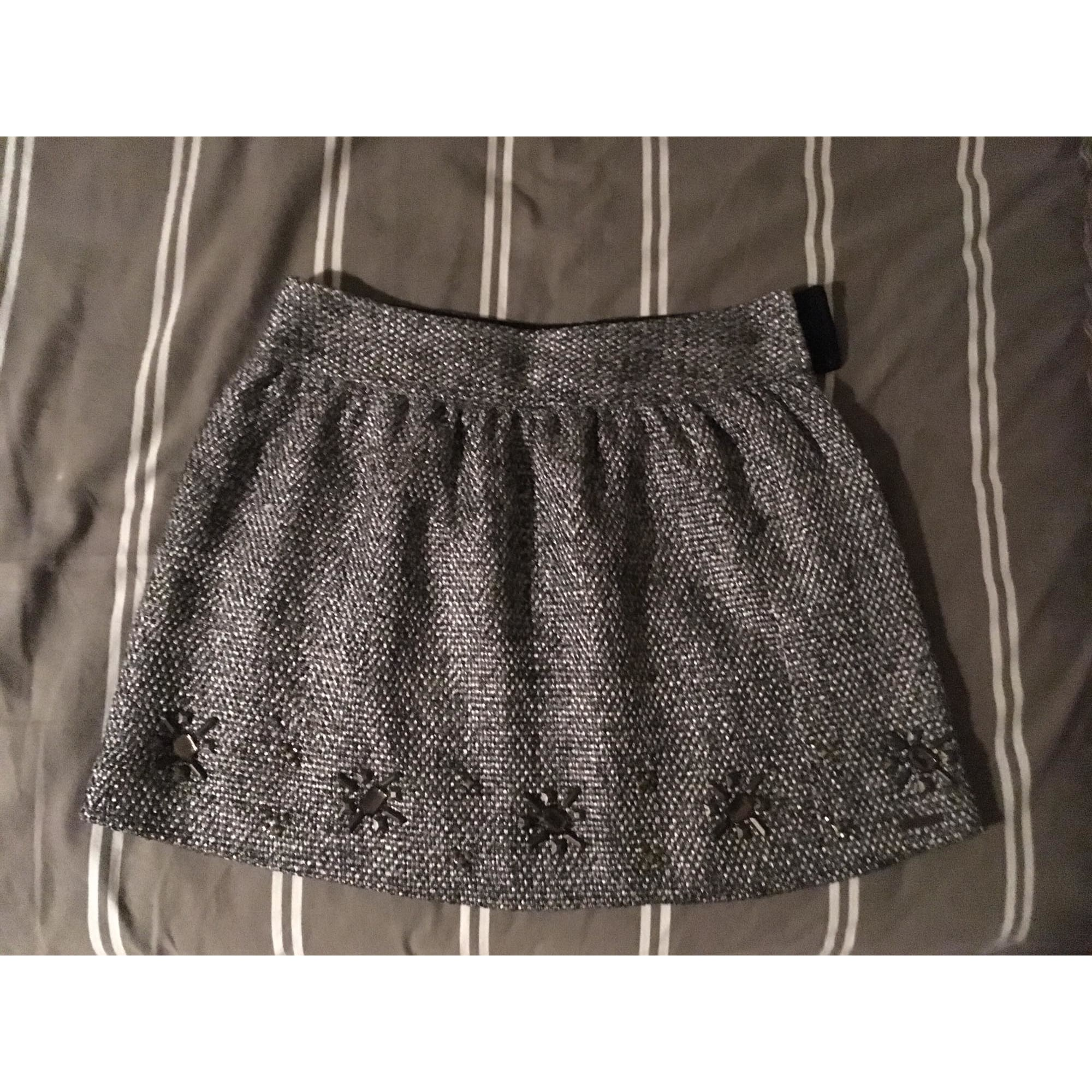 Jupe courte PEPE JEANS Gris, anthracite