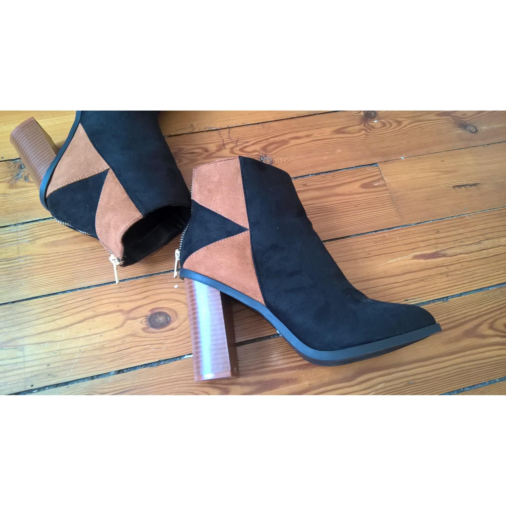 Bottines Low Boots A Talons Kiabi 39 Noir Vendu Par Slow 6727331