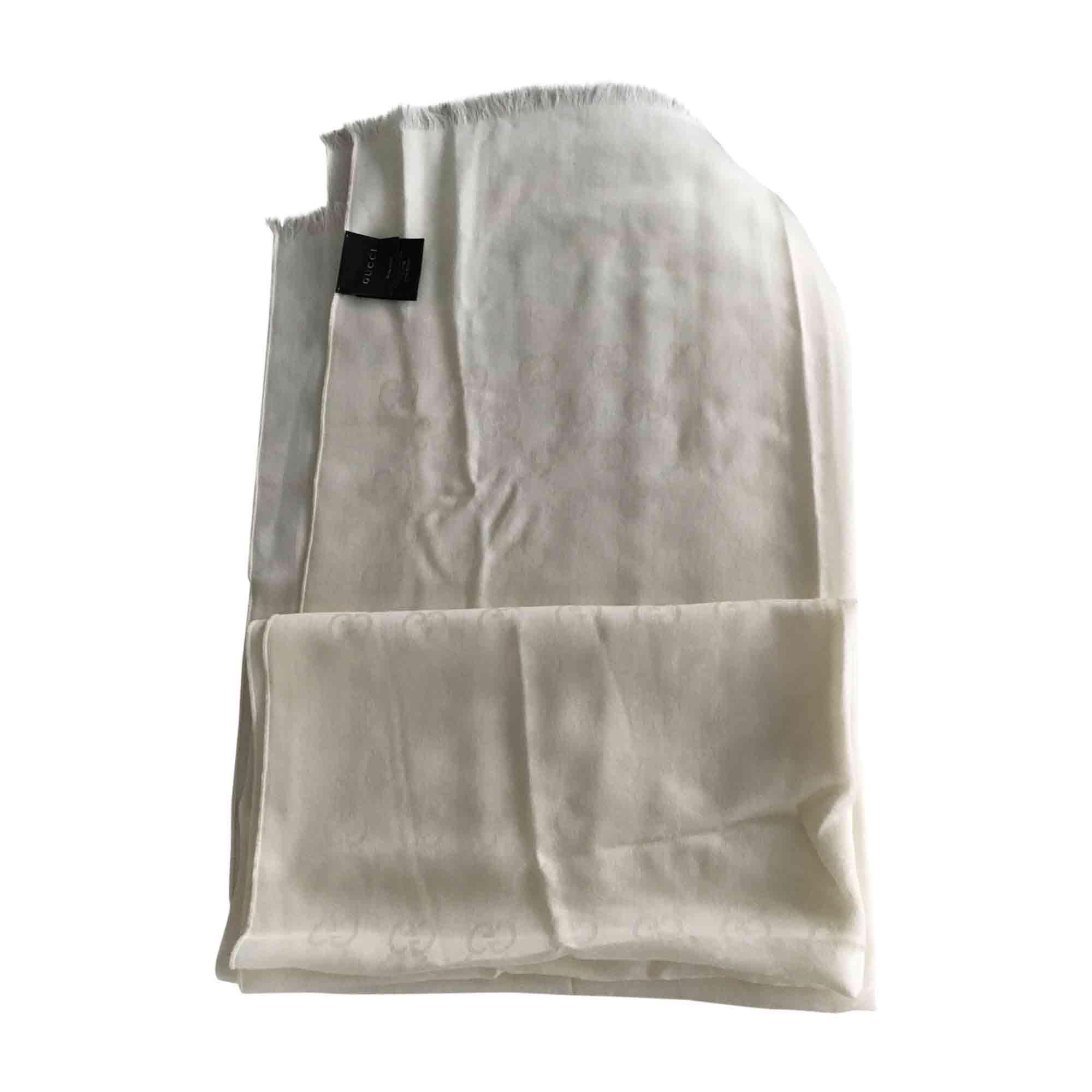 Shawl GUCCI White, off-white, ecru