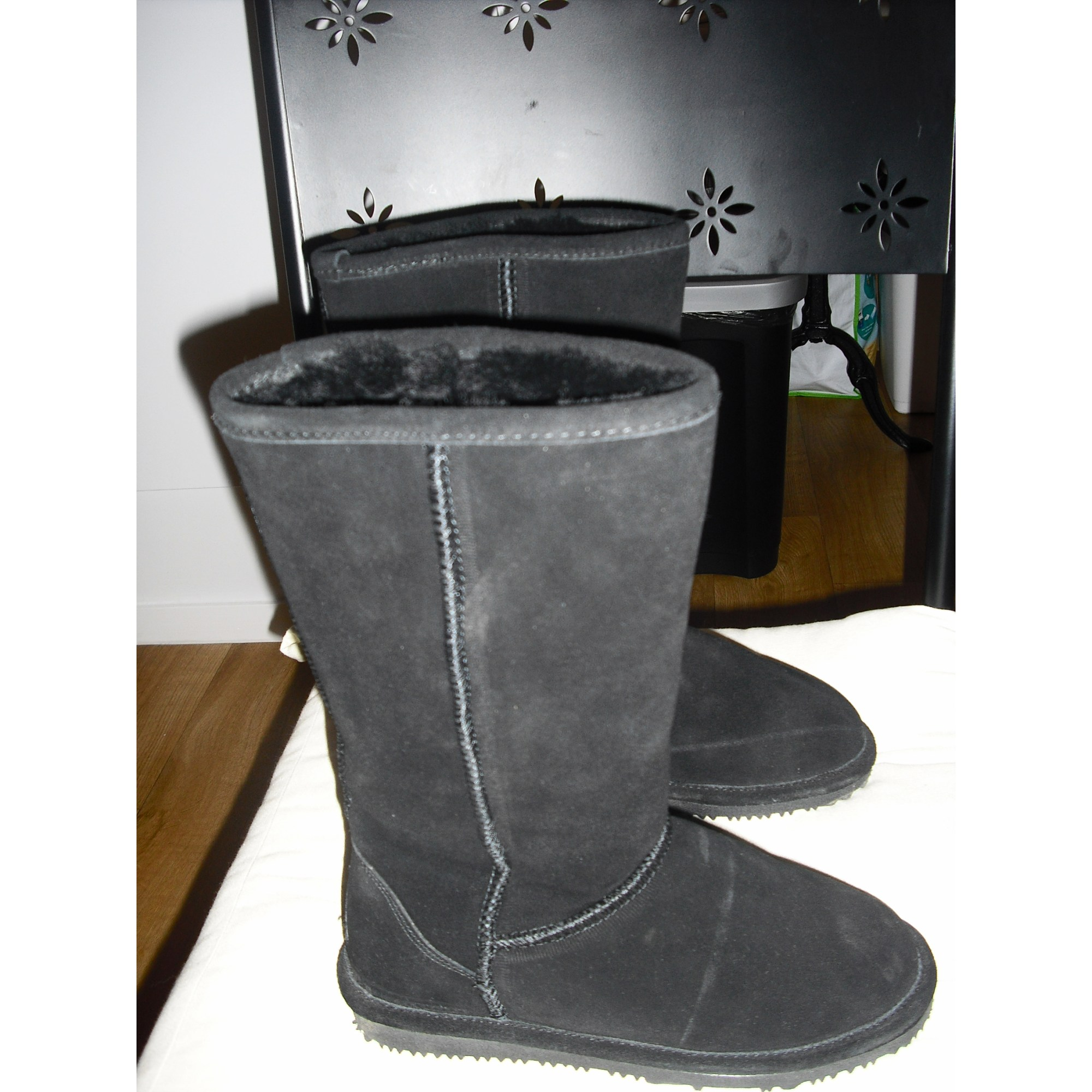Flat Boots Nice Bay 37 Black 6741775 Boot Suede 2cm