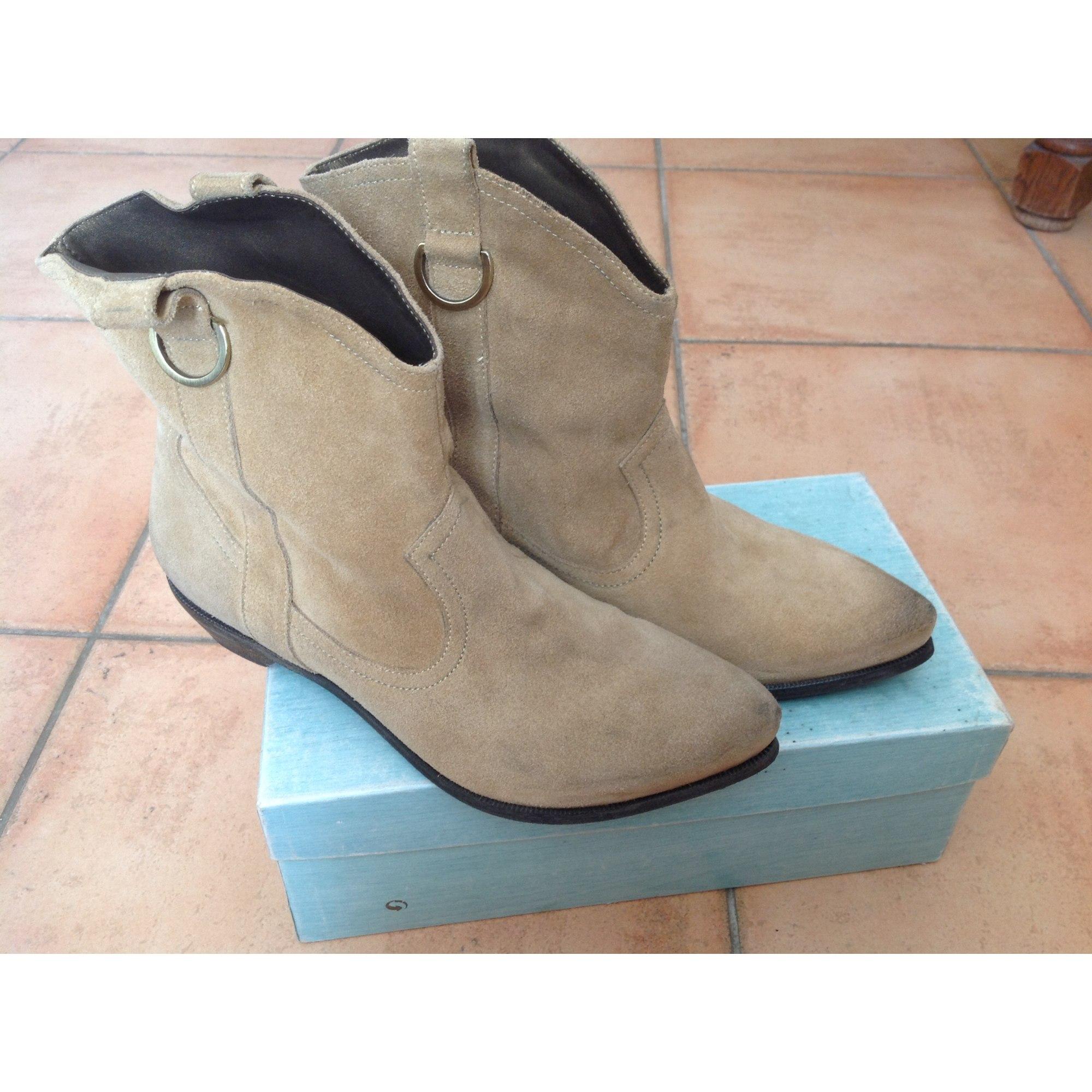 Bottines & low boots à talons BOCAGE Beige, camel