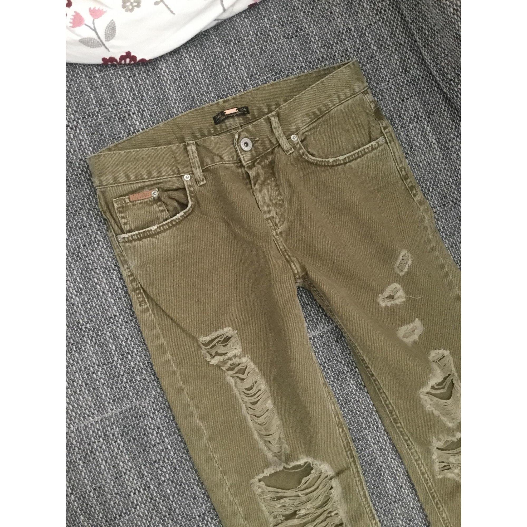 Jeans large, boyfriend PULL & BEAR Kaki