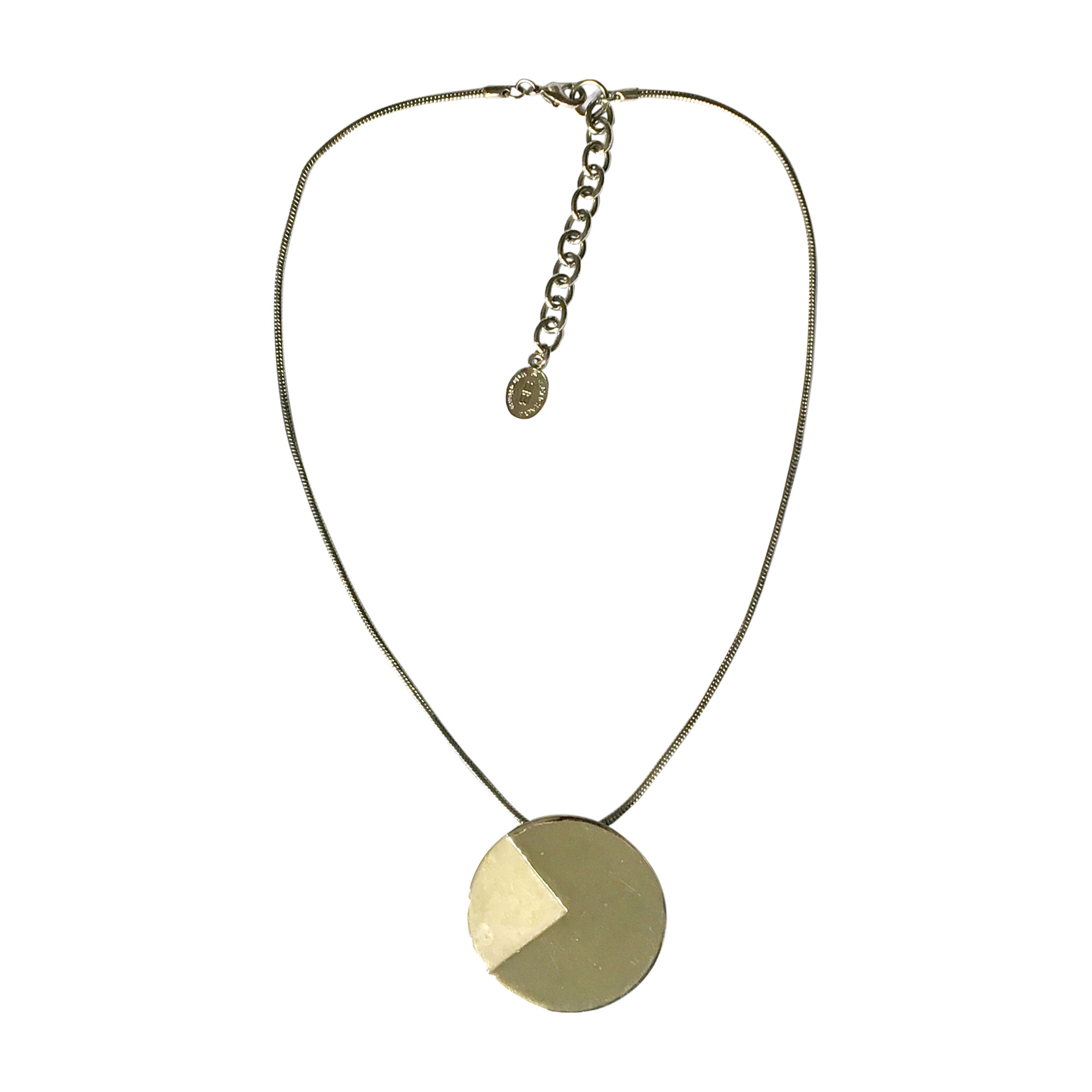 Pendentif, collier pendentif BALENCIAGA métal gris