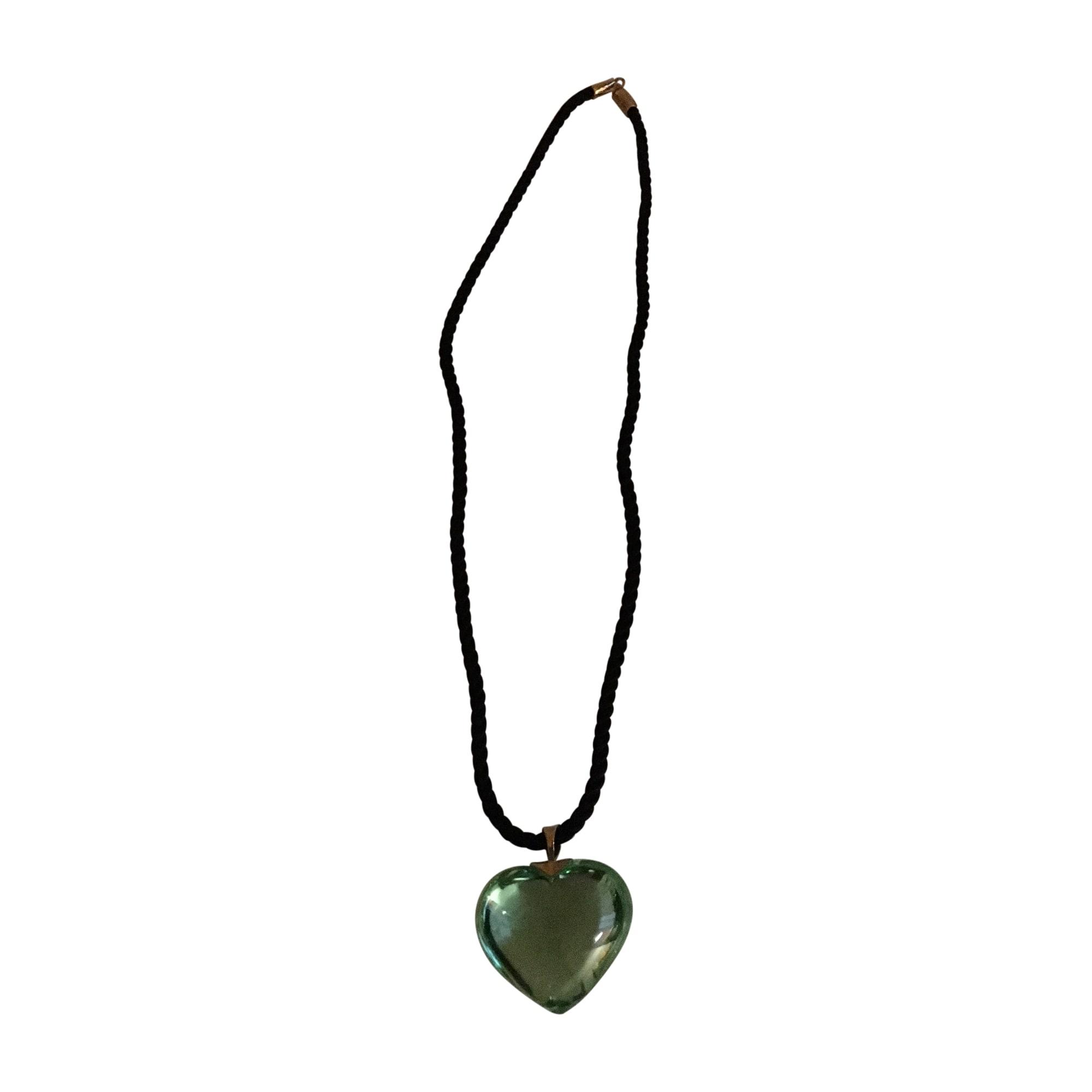 Pendentif baccarat vert