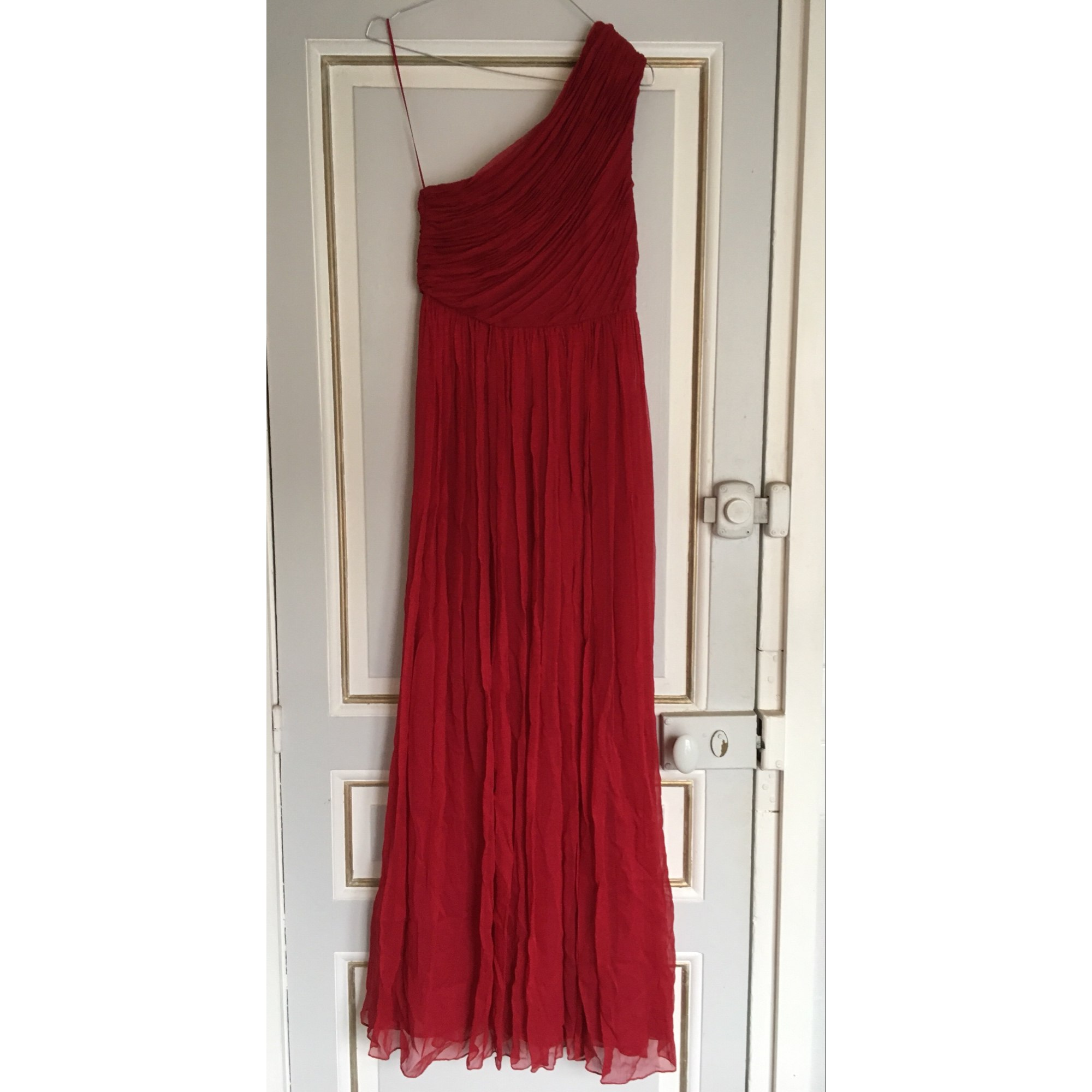 Robe longue MANGO 34 (XS, T0) rouge - 6753939 feb3233b66a0