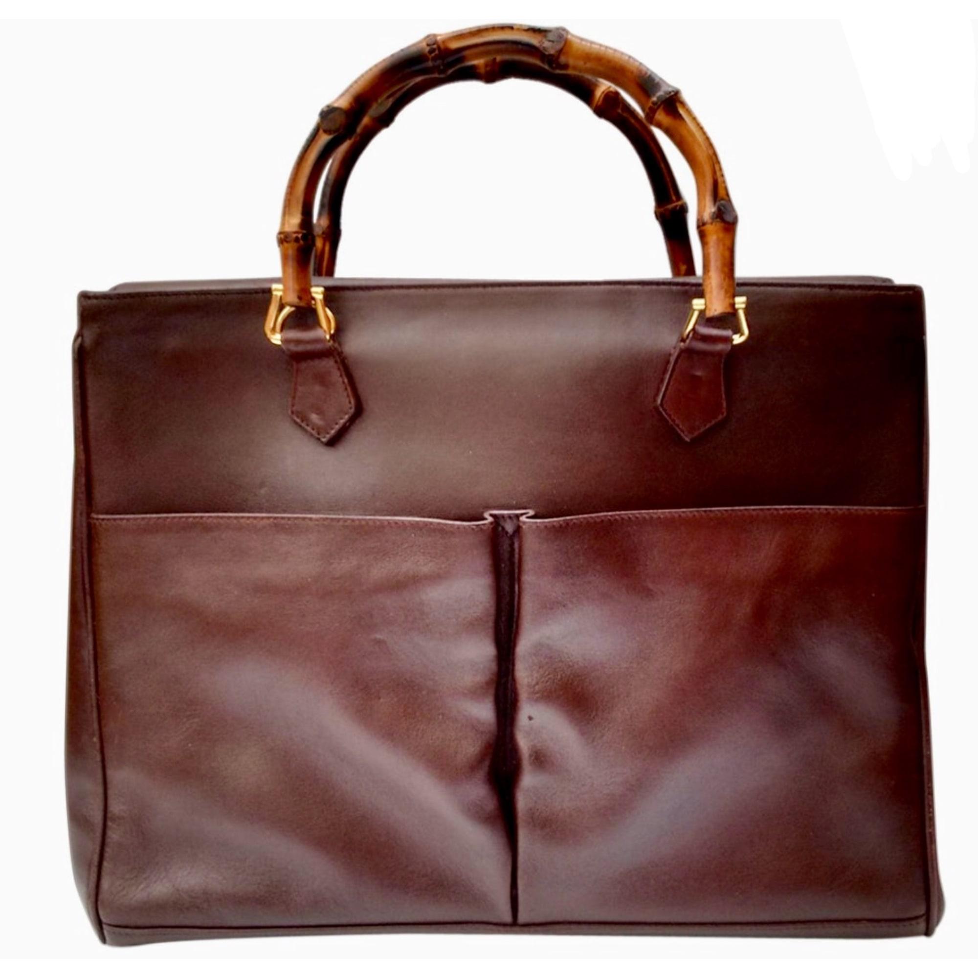 d63e086d998c Sac à main en cuir GUCCI bambou marron vendu par Golden ratio - 6758914