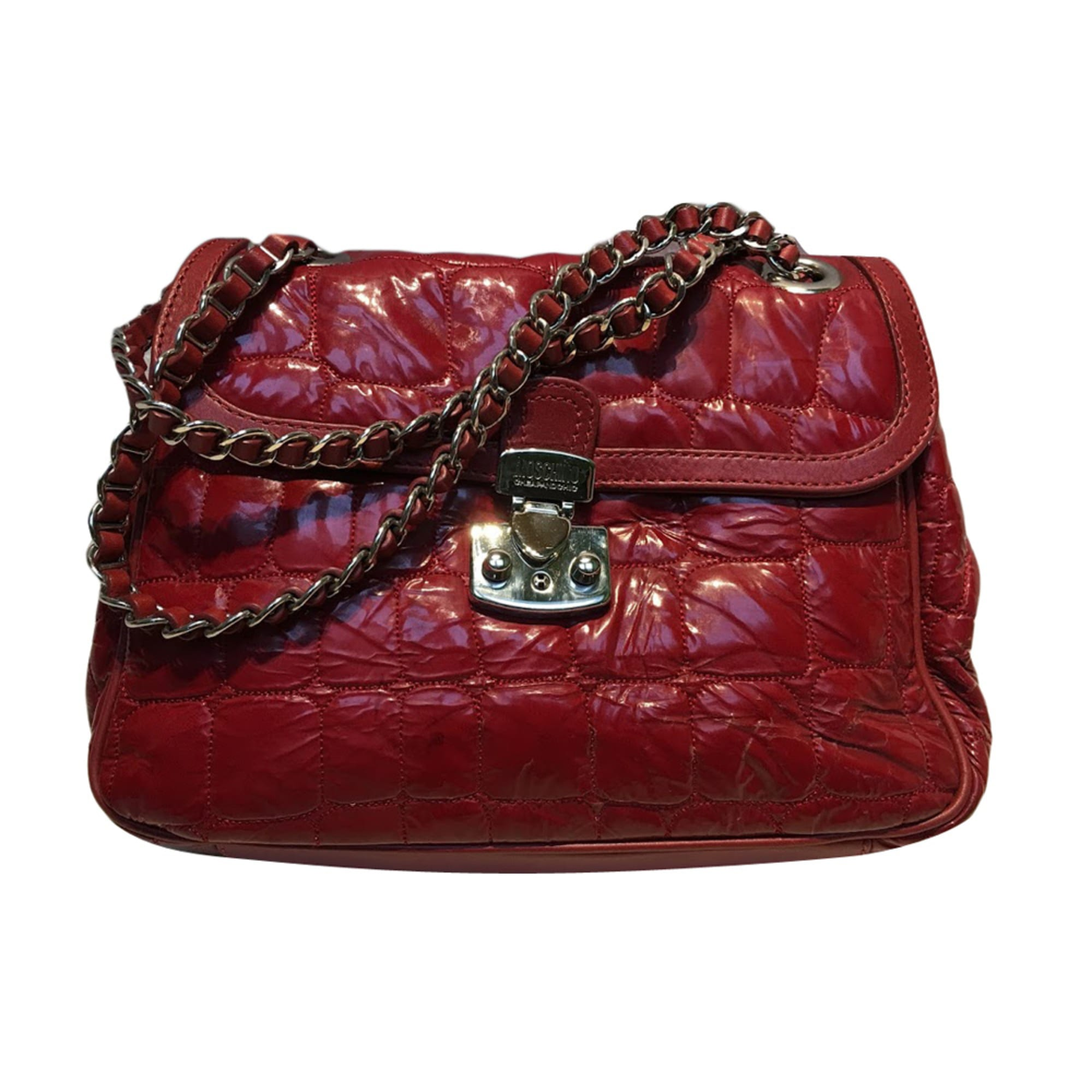 3c0935a3d2 Sac à main en cuir MOSCHINO CHEAP AND CHIC rouge - 6759366