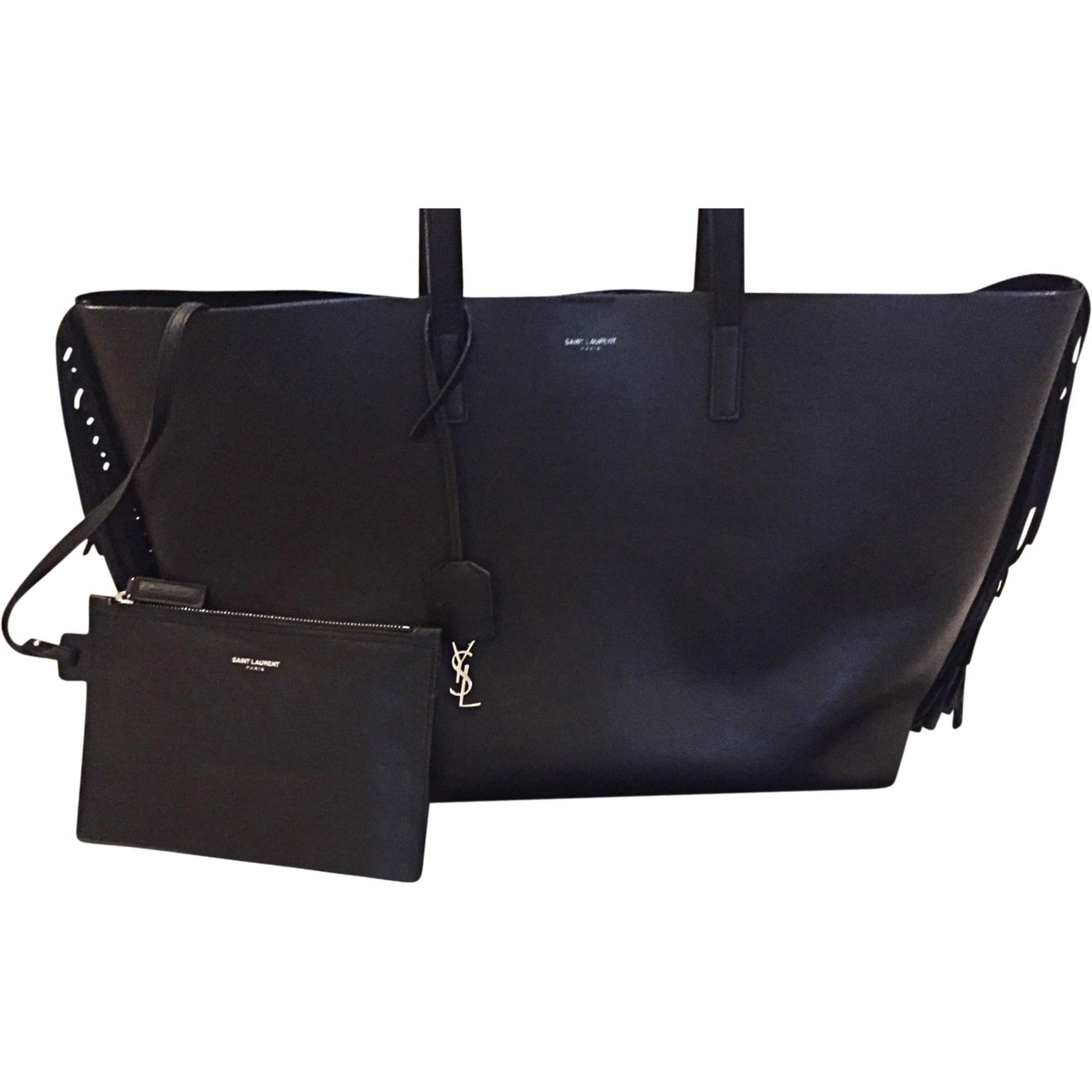 Leather Handbag SAINT LAURENT Black