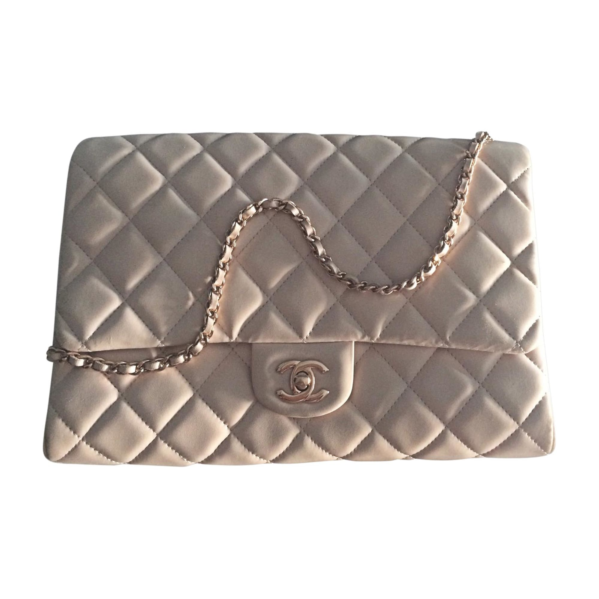 Leather Clutch CHANEL Pink, fuchsia, light pink