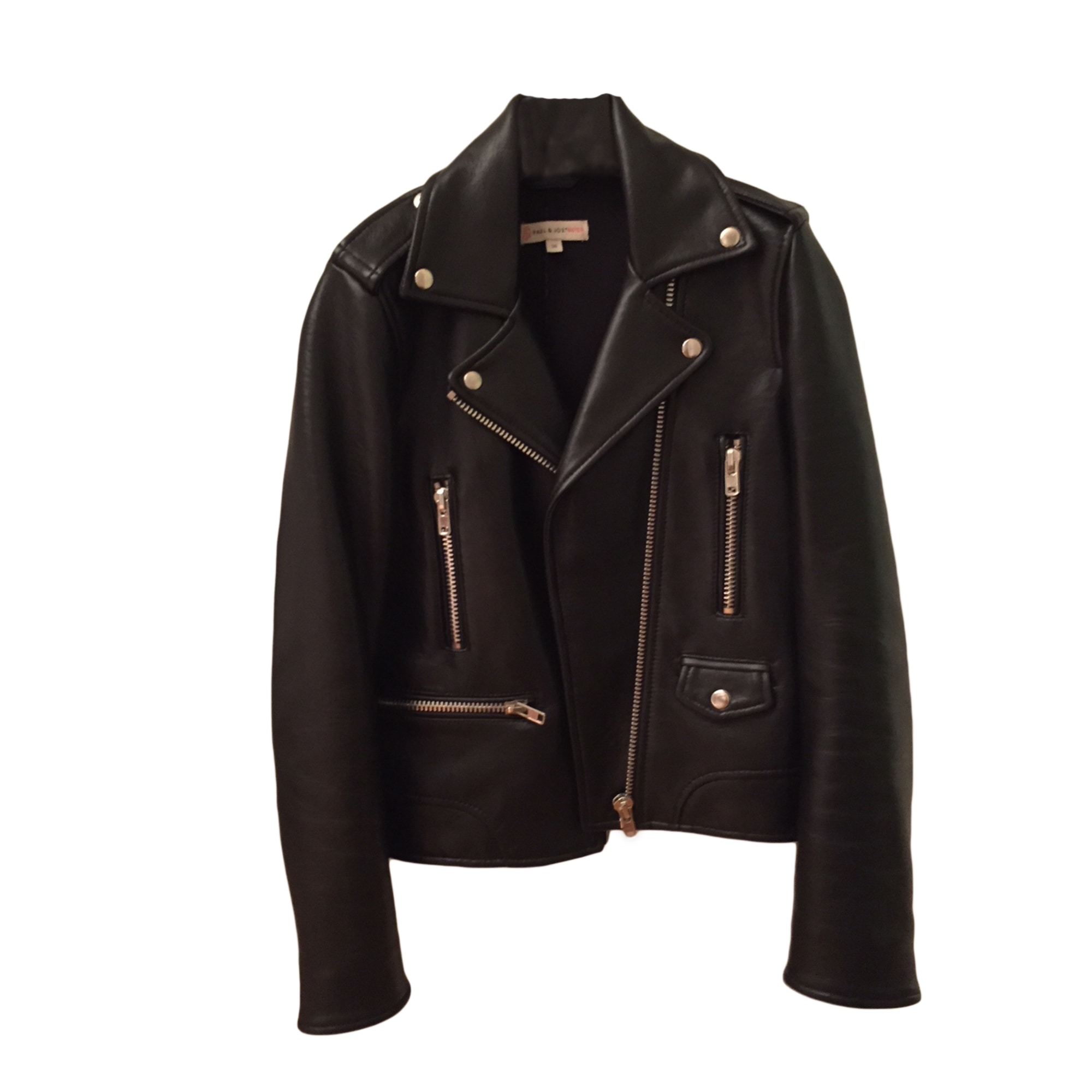 Leather Zipped Jacket PAUL & JOE SISTER Black