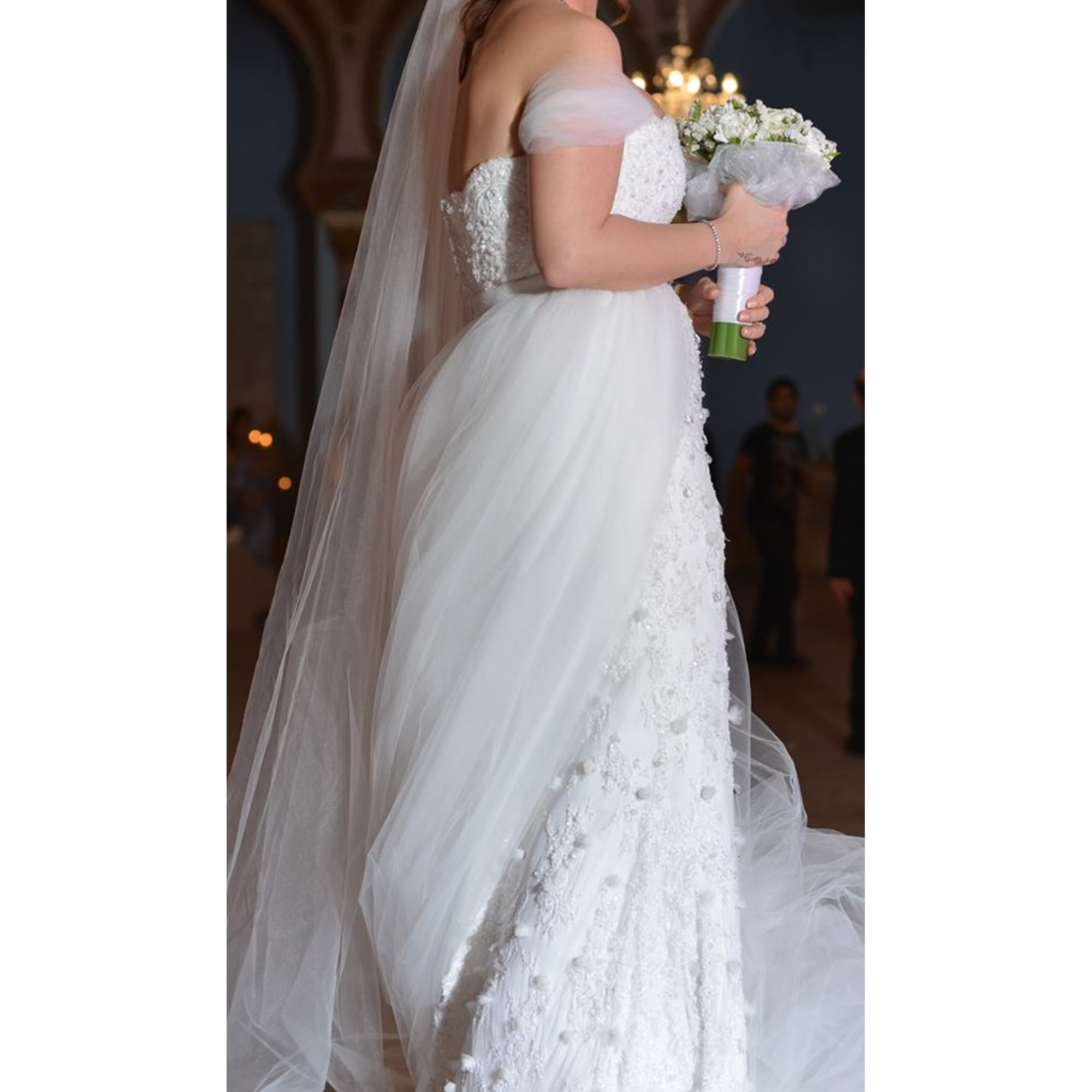 Brautkleid ALI KAROUI 38 (M, T2) weiß - 6762520