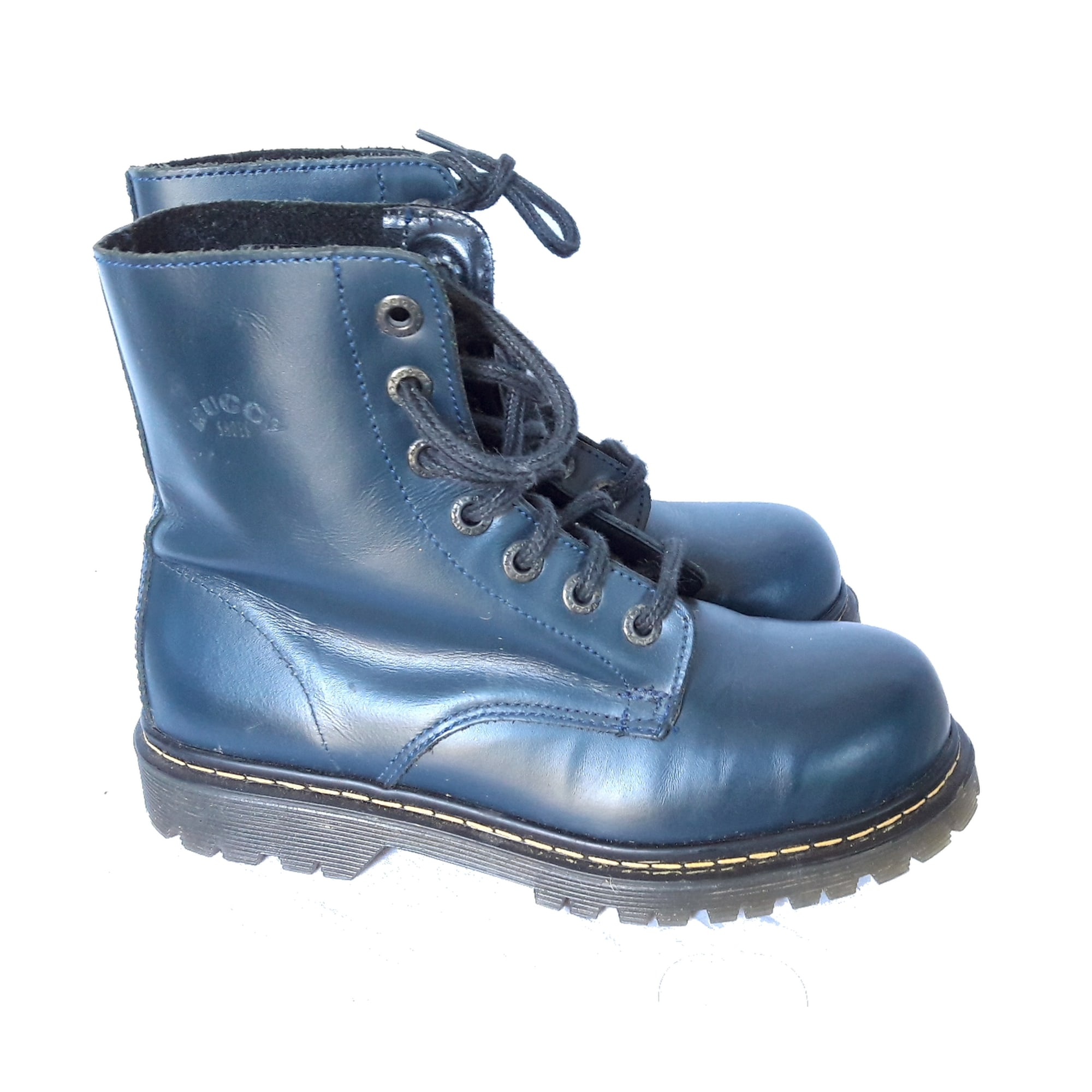 24af8c027a4e7e Bottines & low boots plates BUGGY 37 bleu vendu par Cathy dressing ...