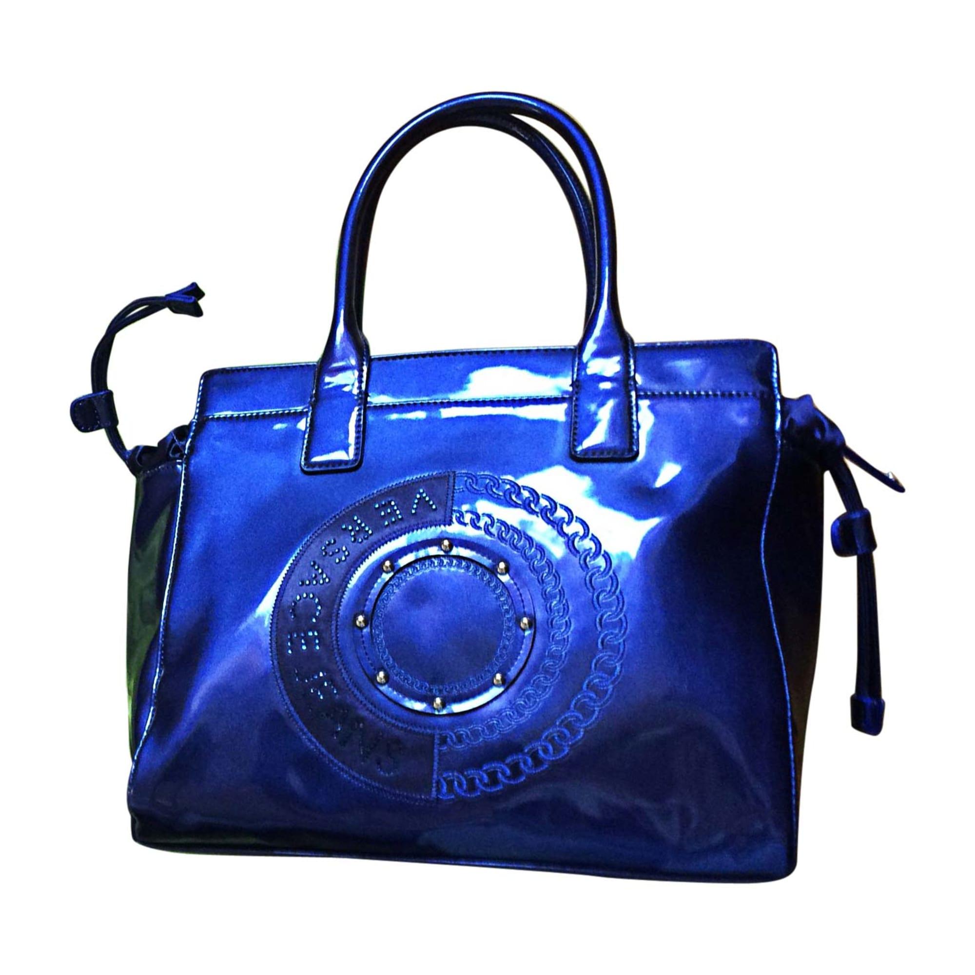 Sac à main en cuir VERSACE Bleu, bleu marine, bleu turquoise 489285aaf47