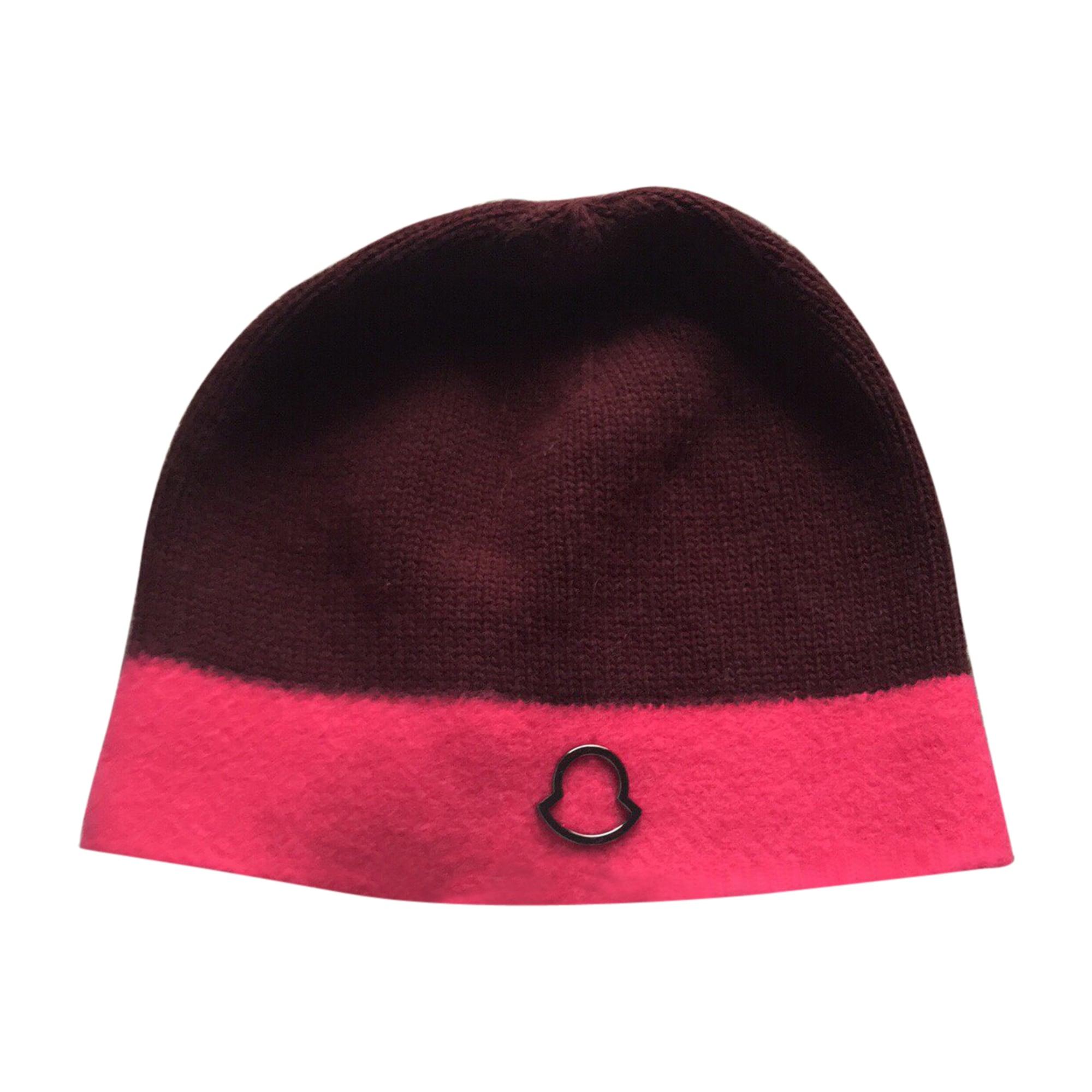 666b0963bd9f Bonnet MONCLER Taille unique rouge - 6805045