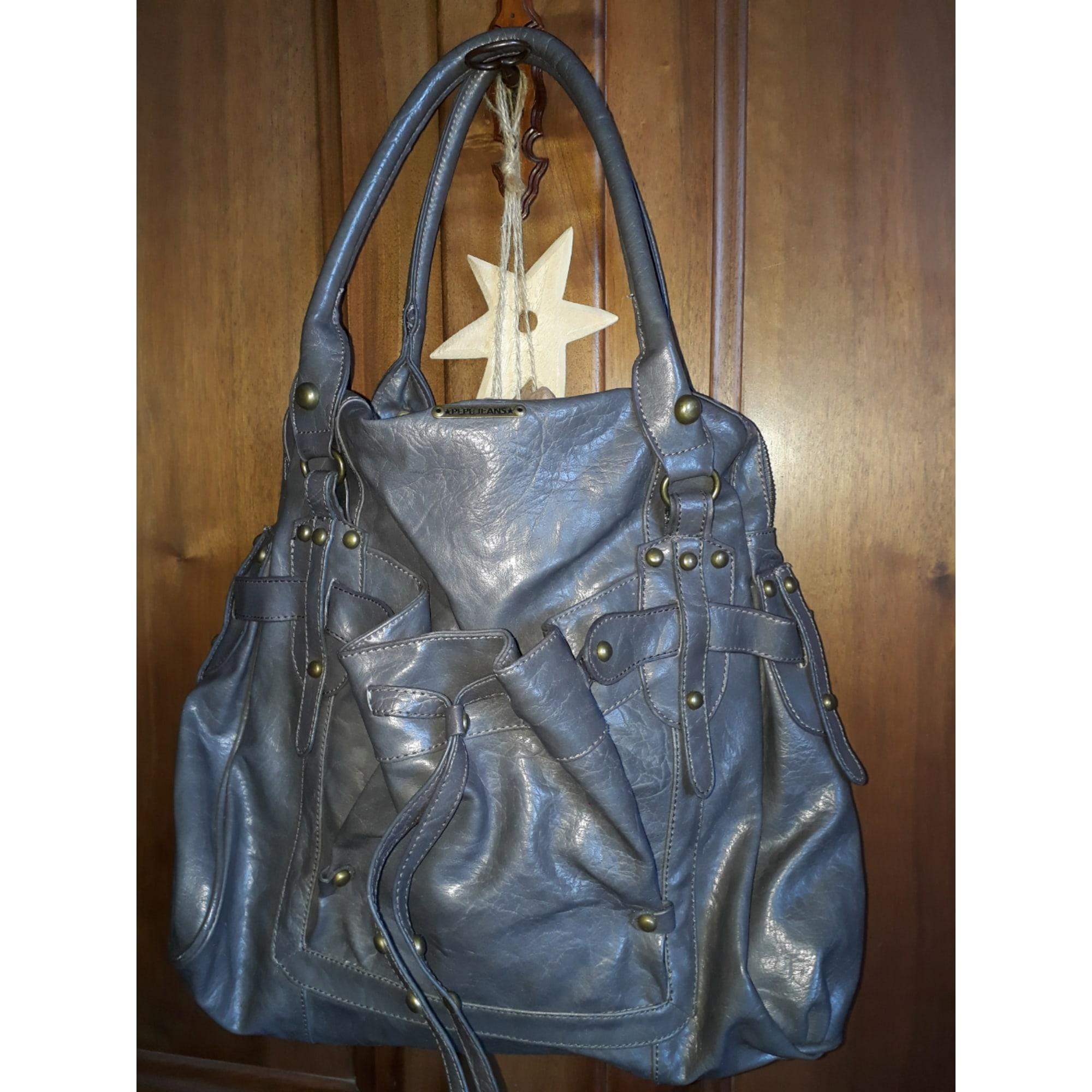 555f09153e2 Sac à main en cuir PEPE JEANS gris vendu par Stephanie 6705 - 6806106