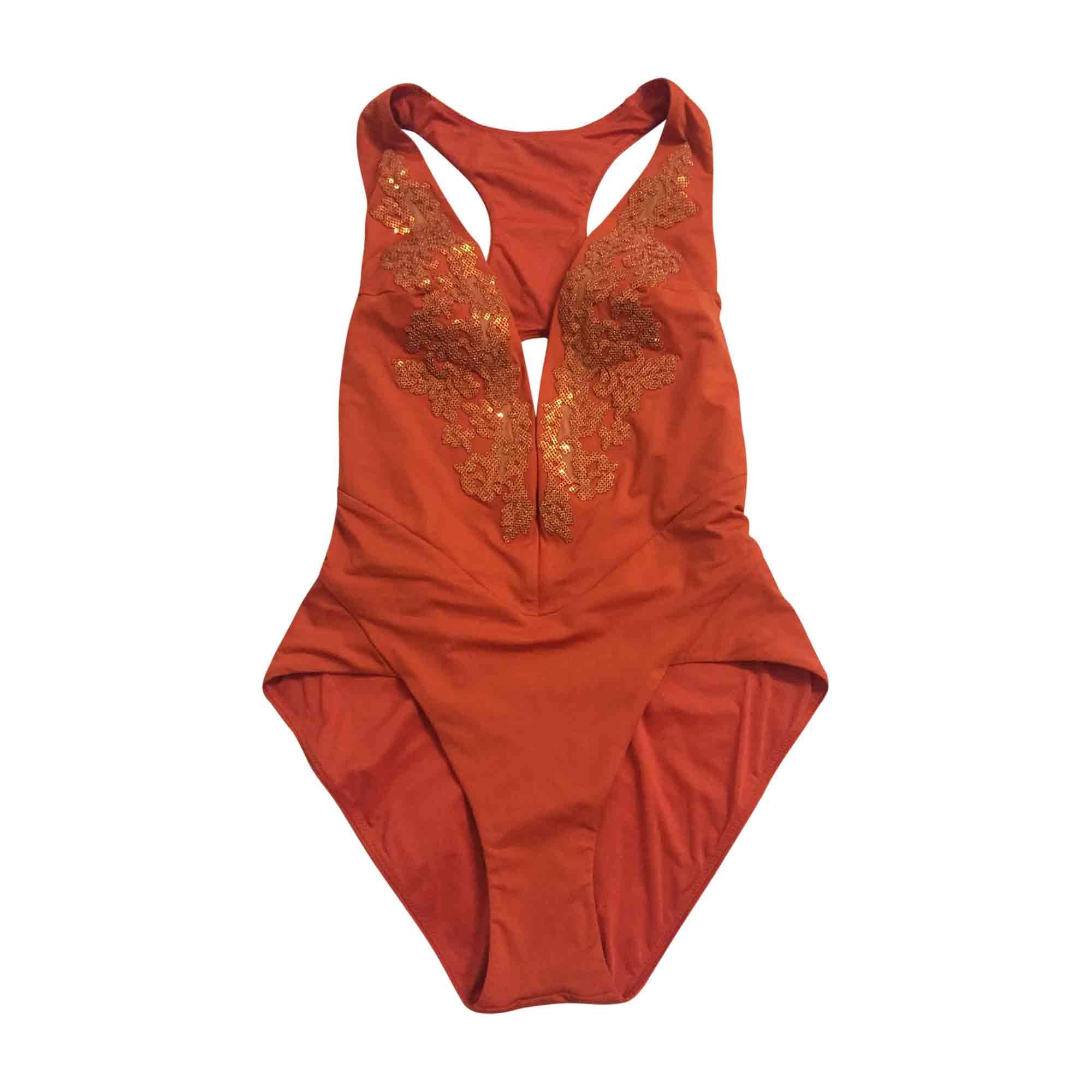 maillot de bain une pi ce la perla 40 l t3 orange vendu par xue 14 6808294. Black Bedroom Furniture Sets. Home Design Ideas