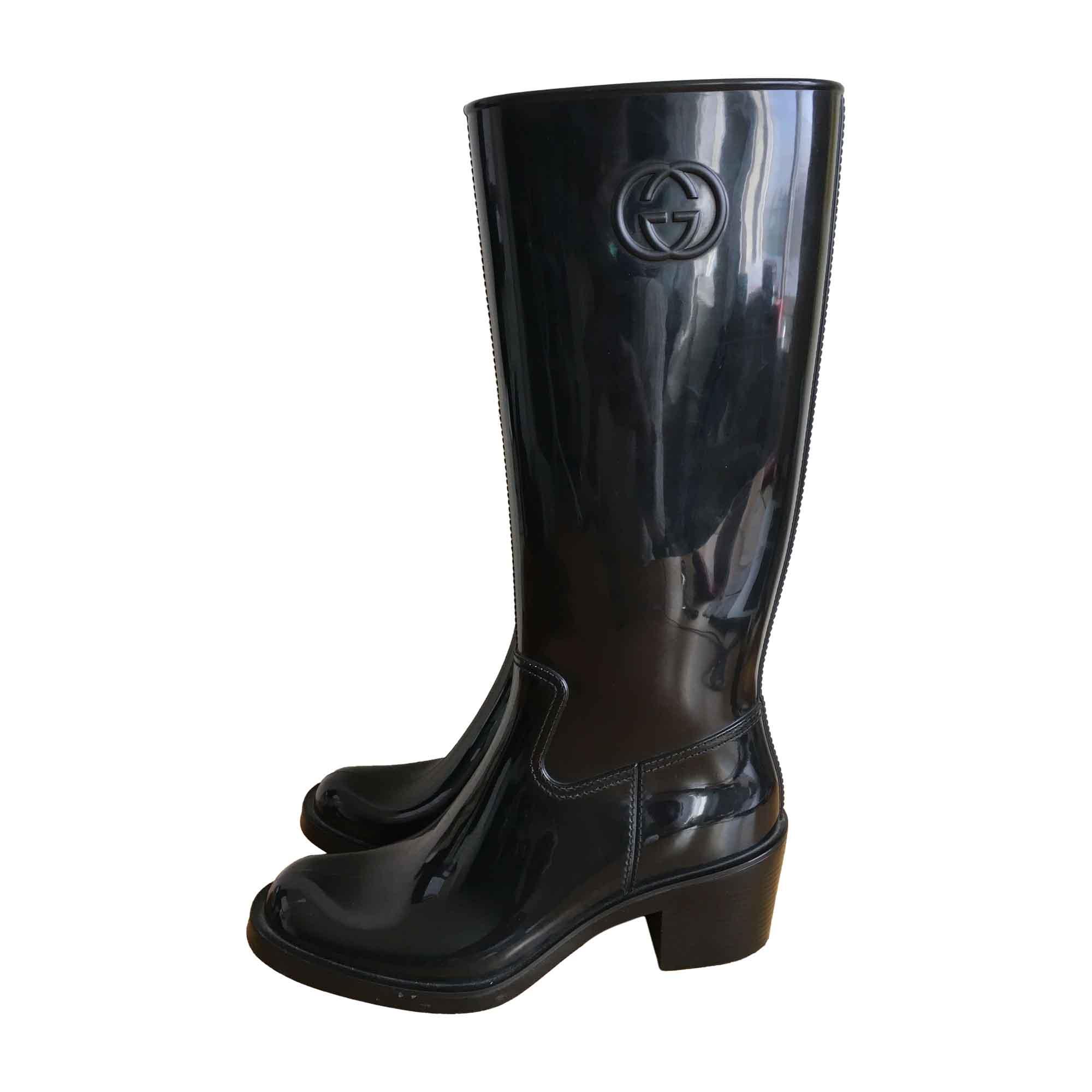 Bottes de pluie GUCCI 41 noir vendu par The boutique of dulce - 6812359 ff6748cbec1