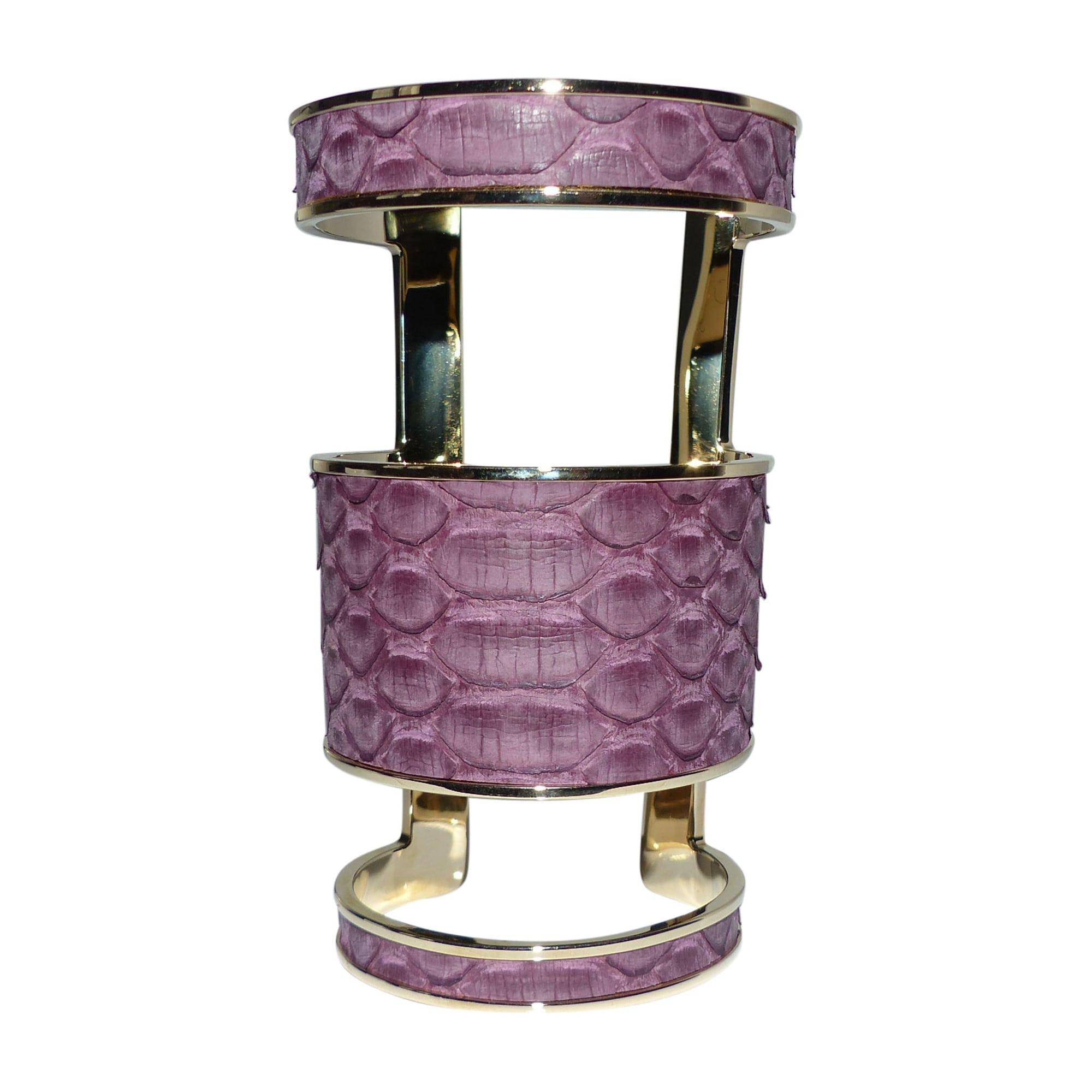 Bracelet ELIE SAAB python violet