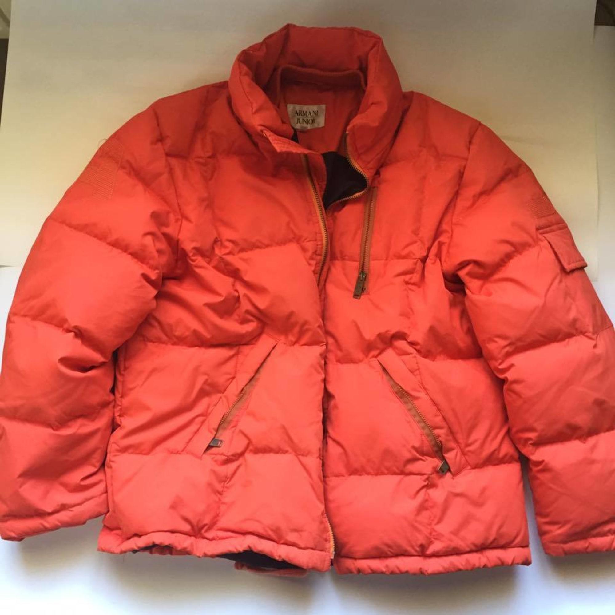 b6083b0e87f Doudoune ARMANI JUNIOR 11-12 ans orange vendu par Adbruges - 6814404
