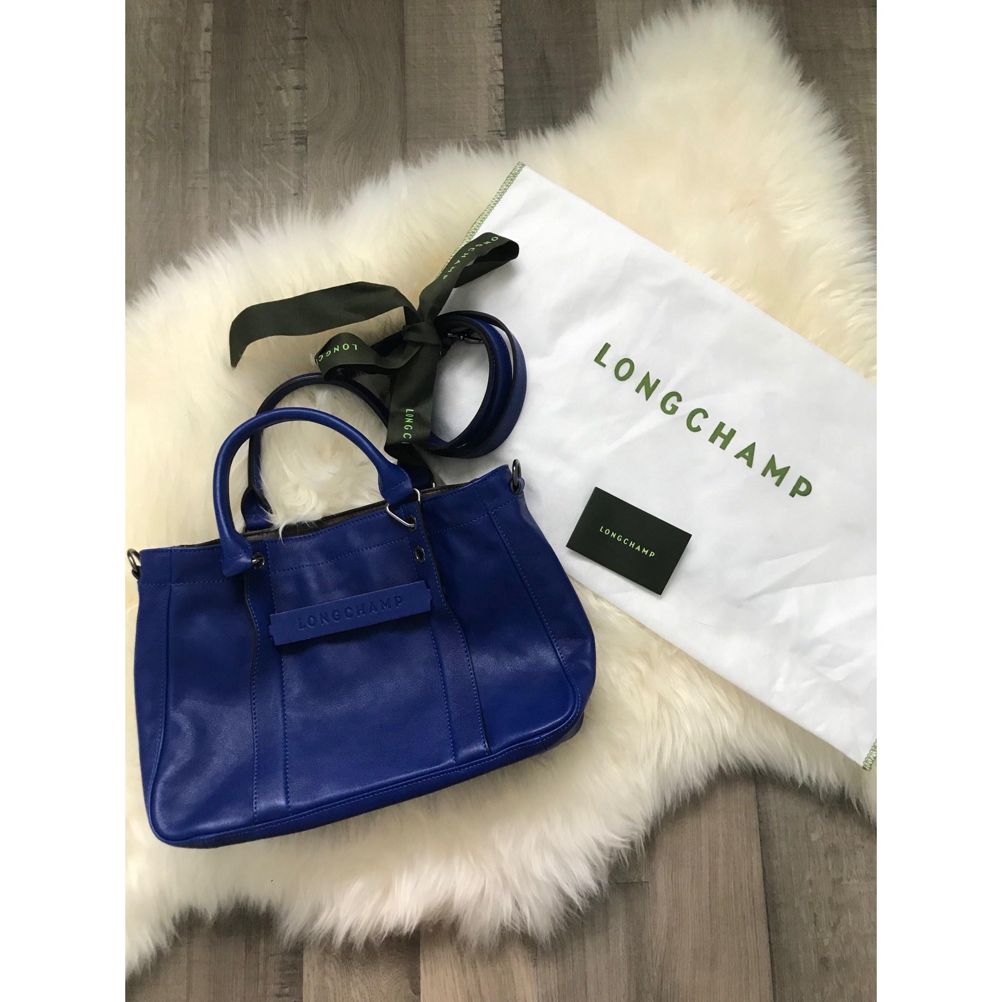 Bleu En Marine Turquoise Sac Longchamp Main À Bleu Cuir 0qEwXq