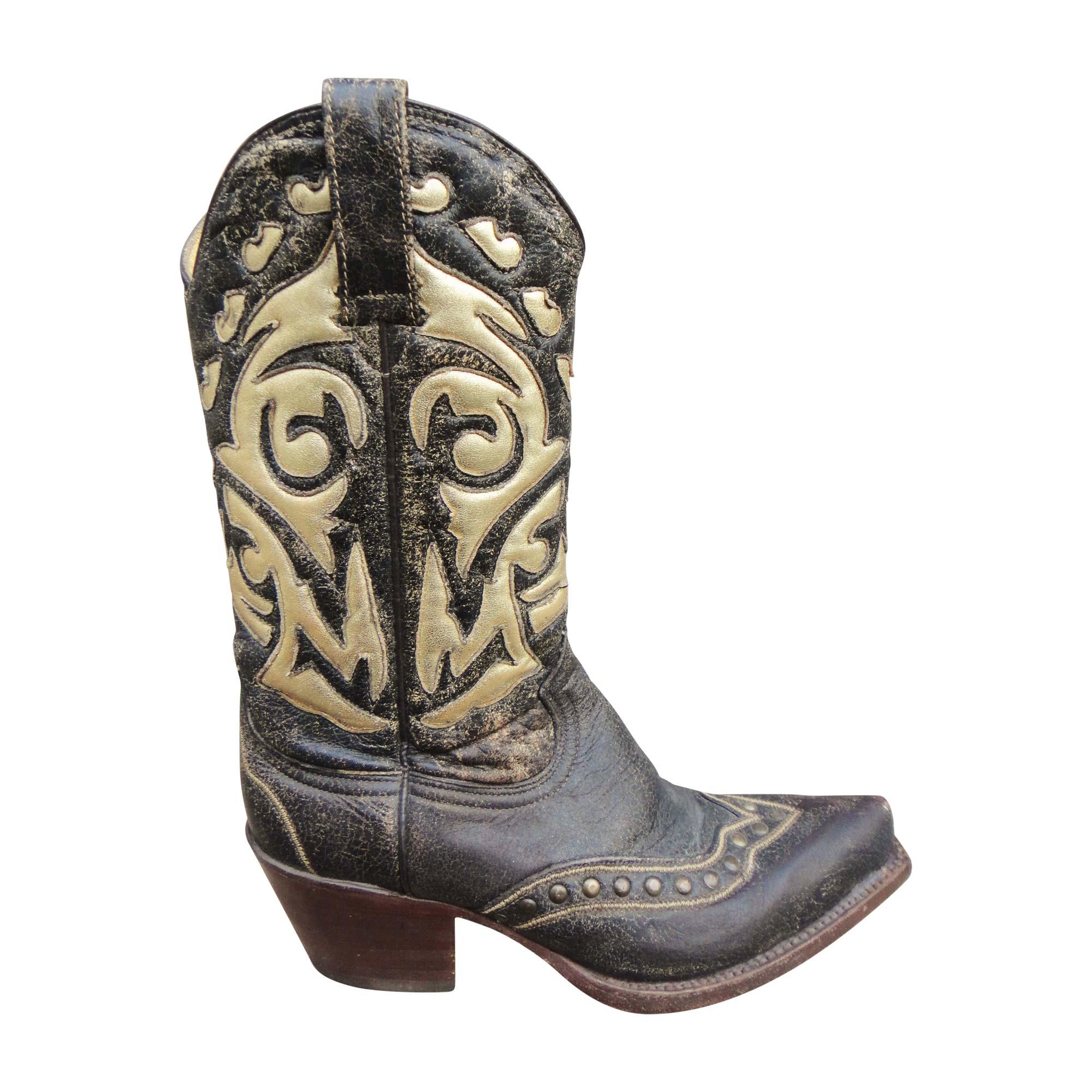 Santiags, bottes cowboy MEXICANA Marron