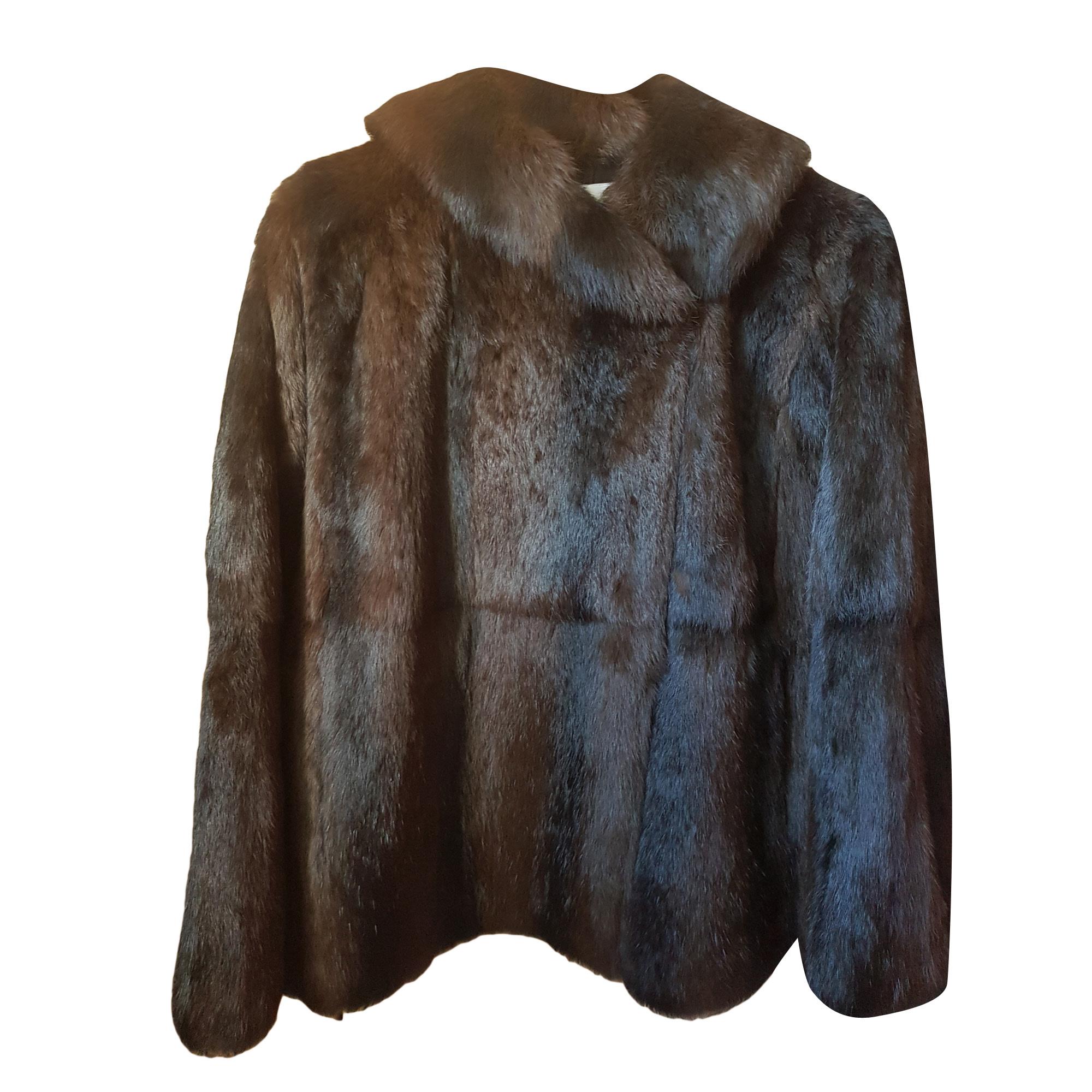Manteau en fourrure SANDRO 36 (S, T1) marron vendu par Van 382511057 ... 525334ef9d2