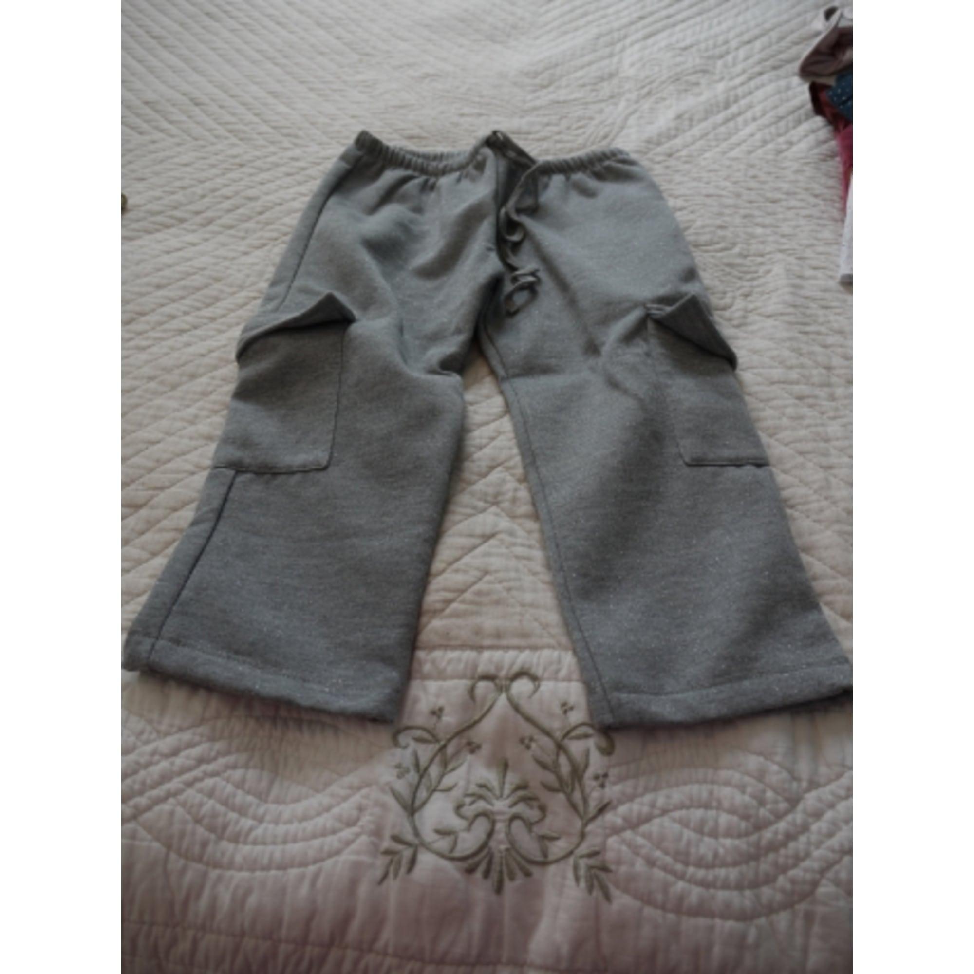 Ensemble jogging LE MARCHAND D'ETOILES coton gris 3-4 ans