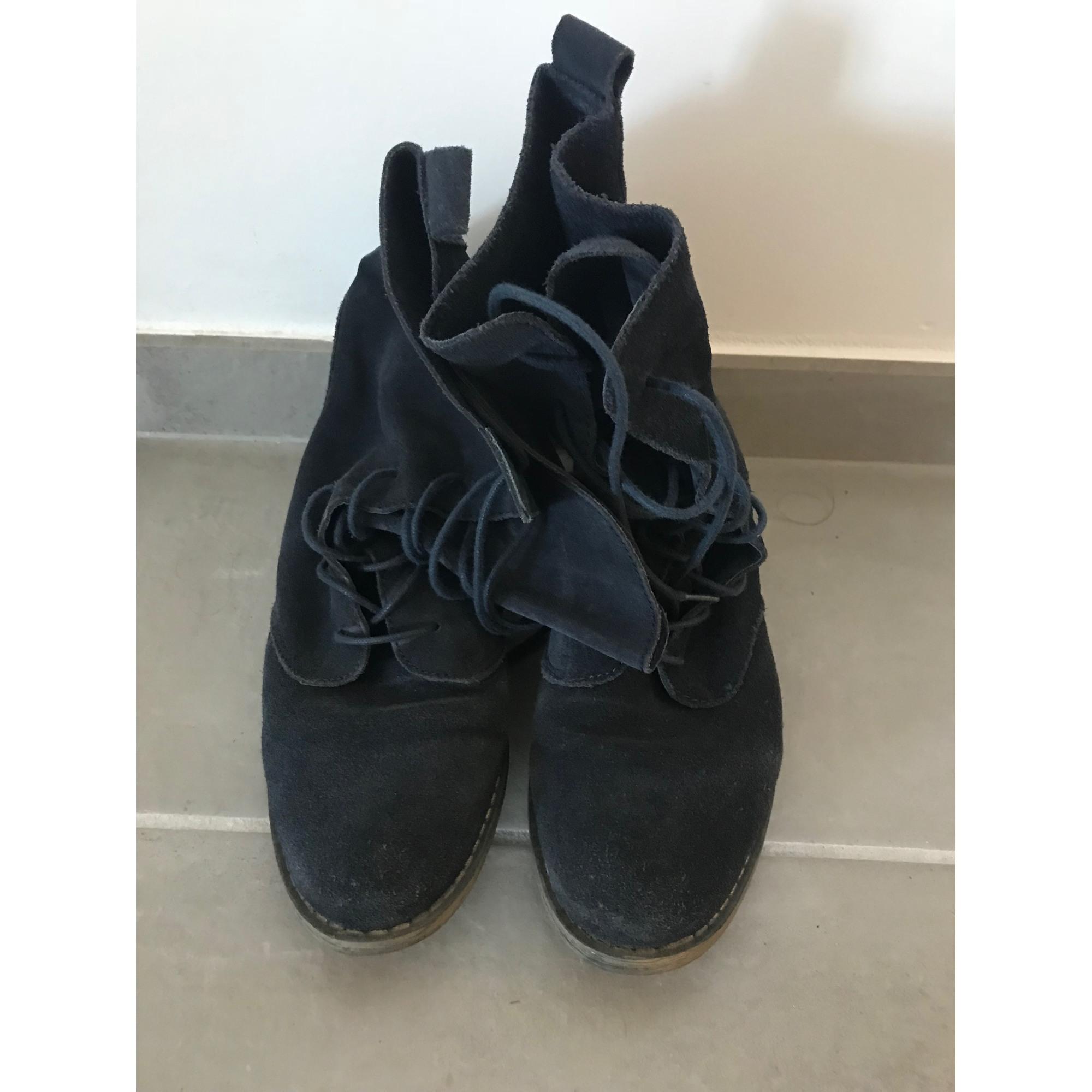 Bottines & low boots plates LA REDOUTE Bleu, bleu marine, bleu turquoise