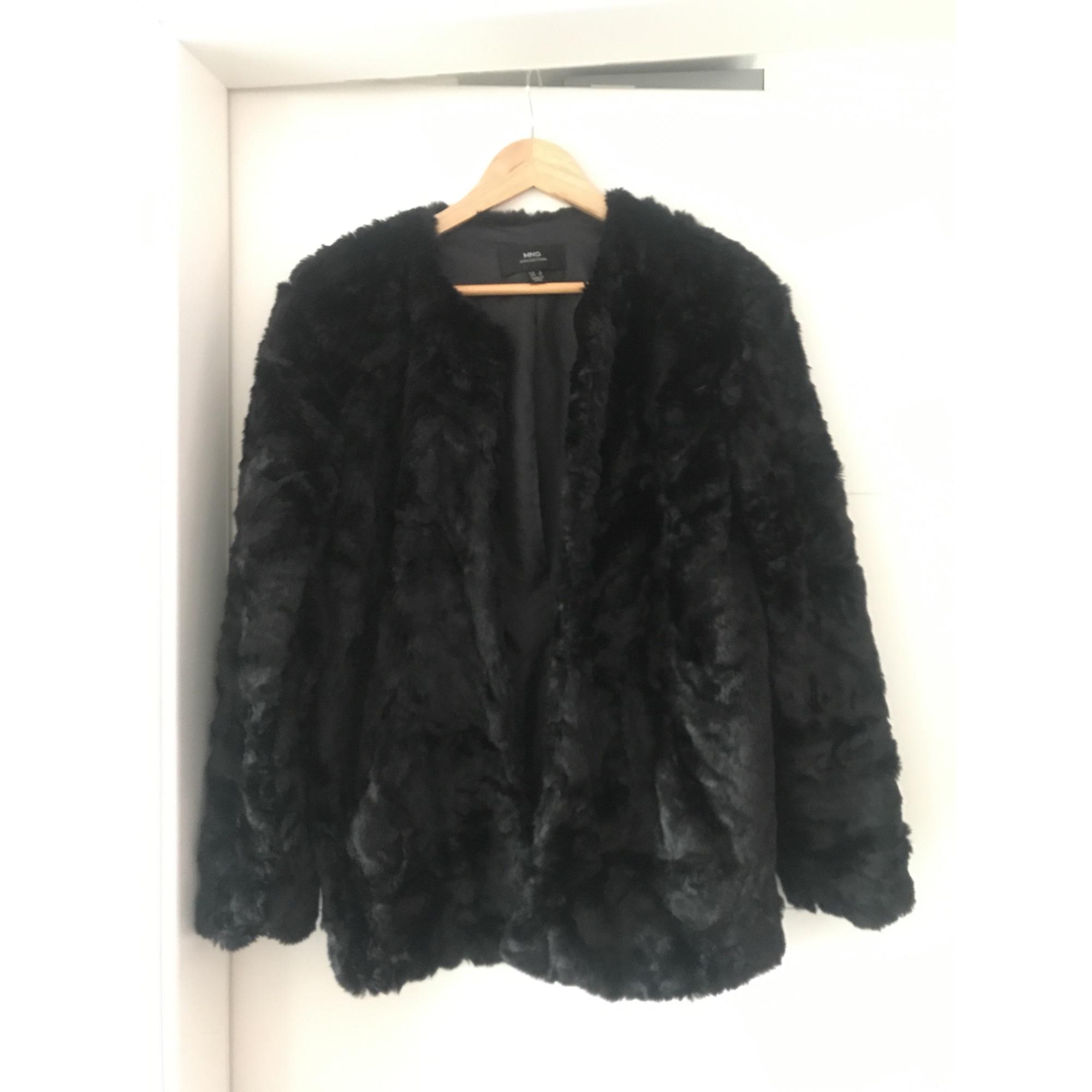 Manteau en fourrure MANGO 36 (S, T1) noir vendu par Weishaar - 6885612 6d34c55821cc