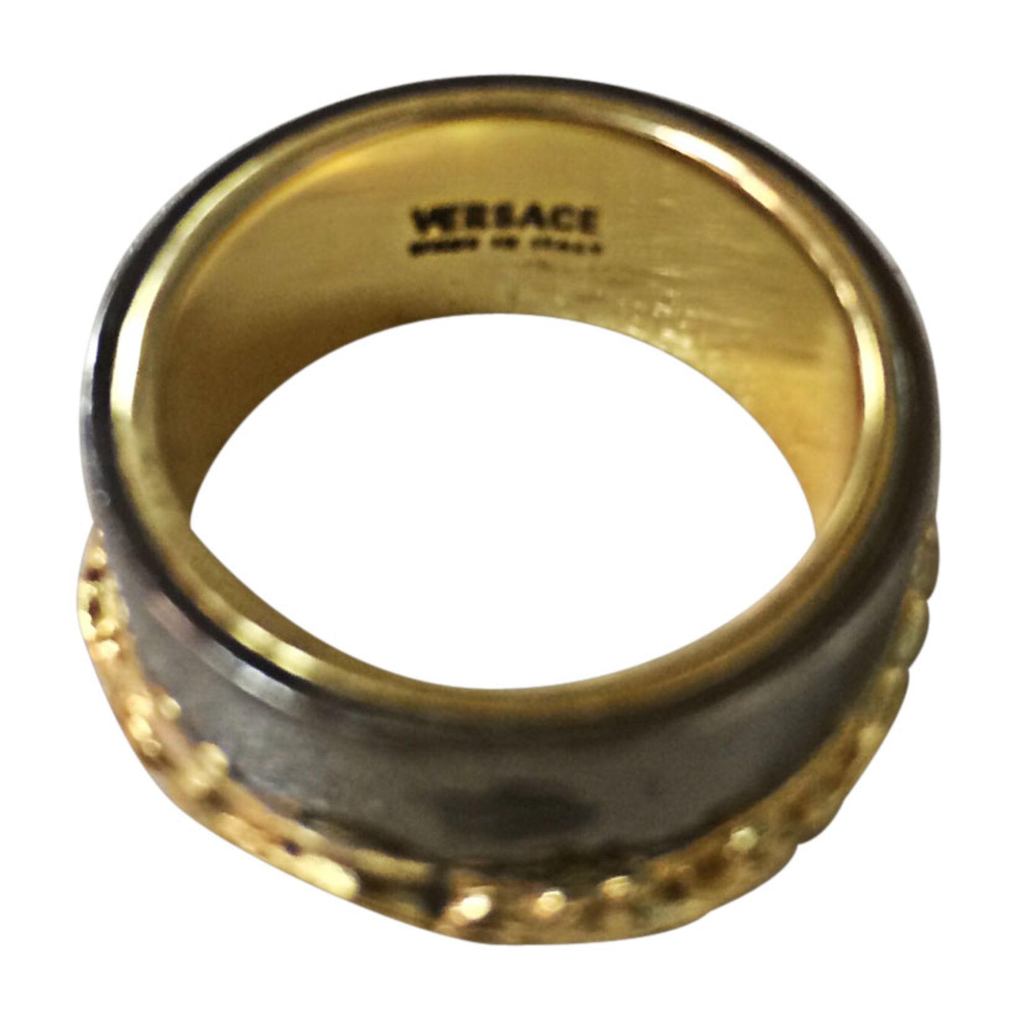 Bague VERSACE Doré, bronze, cuivre 0857565360d