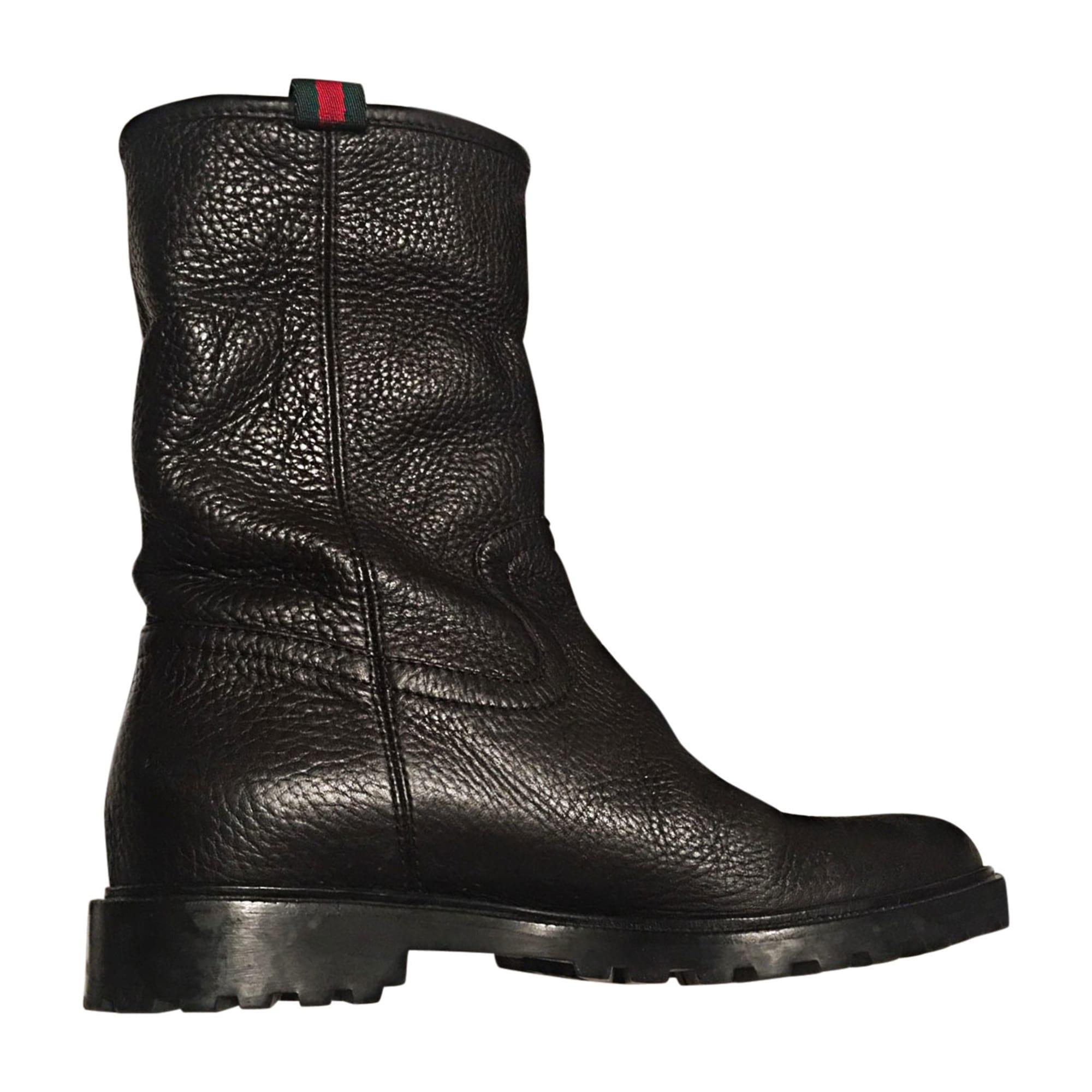 39f75dd885cb Bottines   low boots plates GUCCI 36 noir vendu par Anais... - 6896561