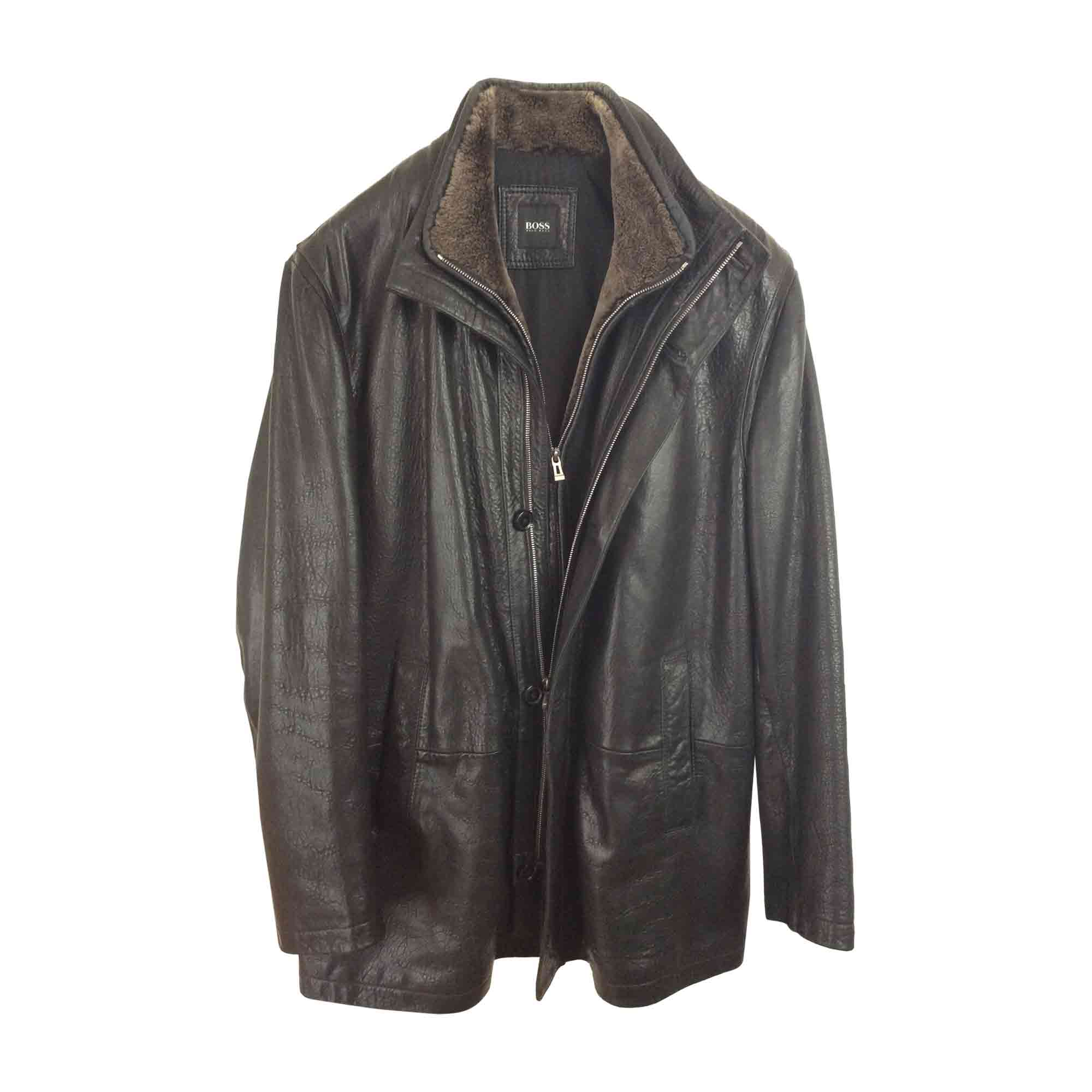 6b3bcba2679 Veste en cuir HUGO BOSS 54 (L) noir vendu par Harmonie8 - 6897685