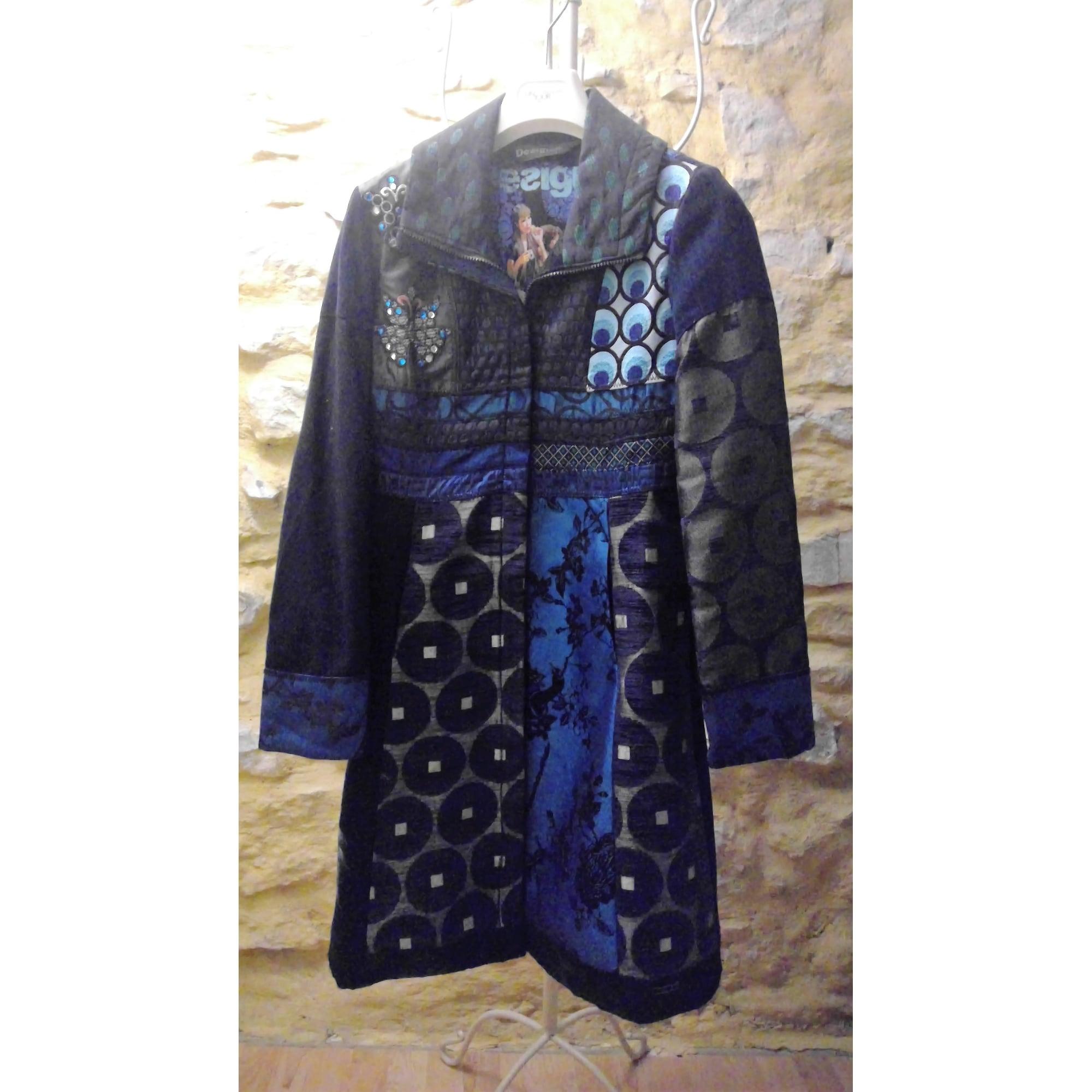 bleu bleu DESIGUAL Bleu marine turquoise Manteau dIwpqxEA
