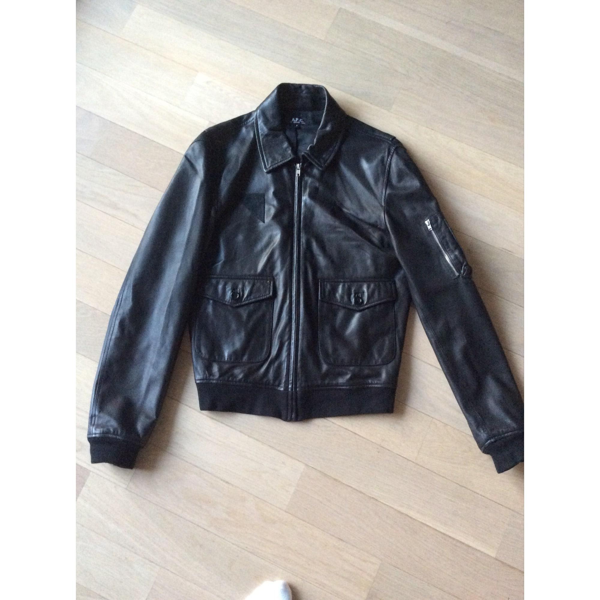 ac666c1c3f901 Blouson en cuir A.P.C. 44 (S) noir vendu par Sebastien 1058 - 6920997