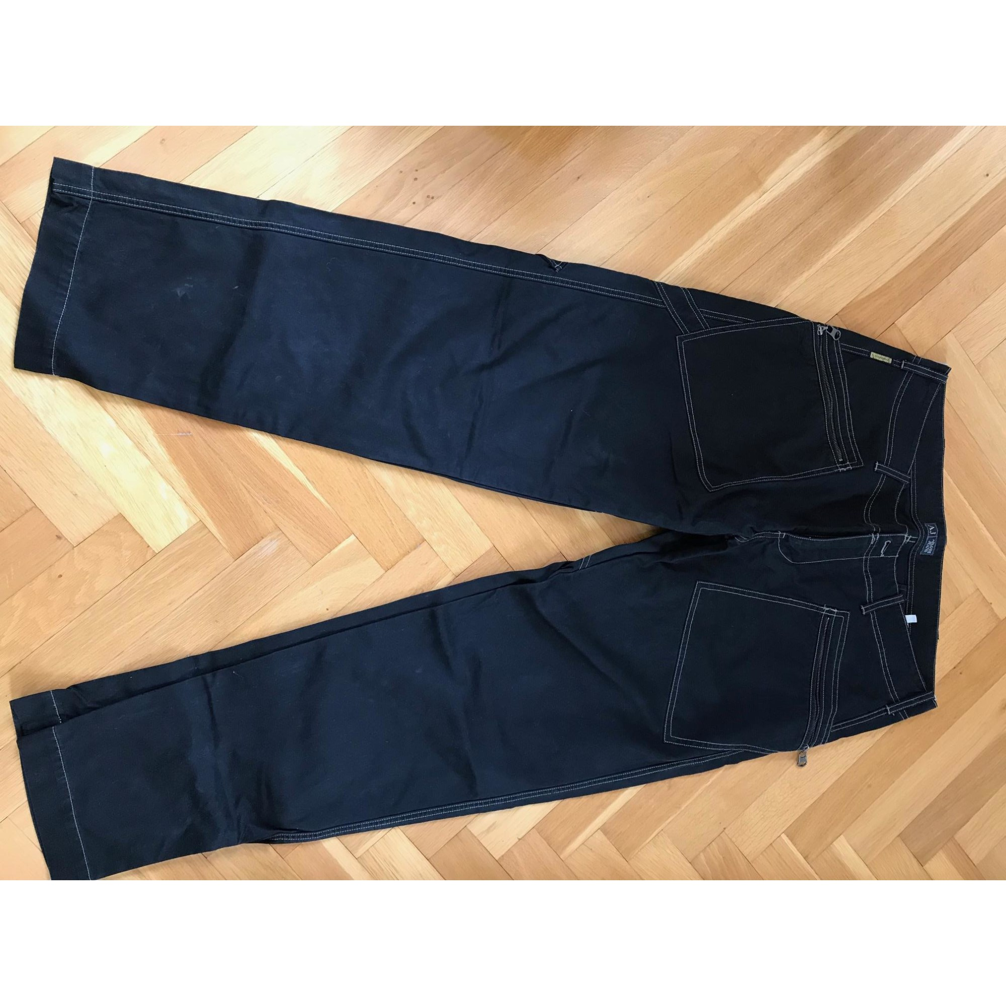 Straight Leg Pants ARMANI JEANS Black
