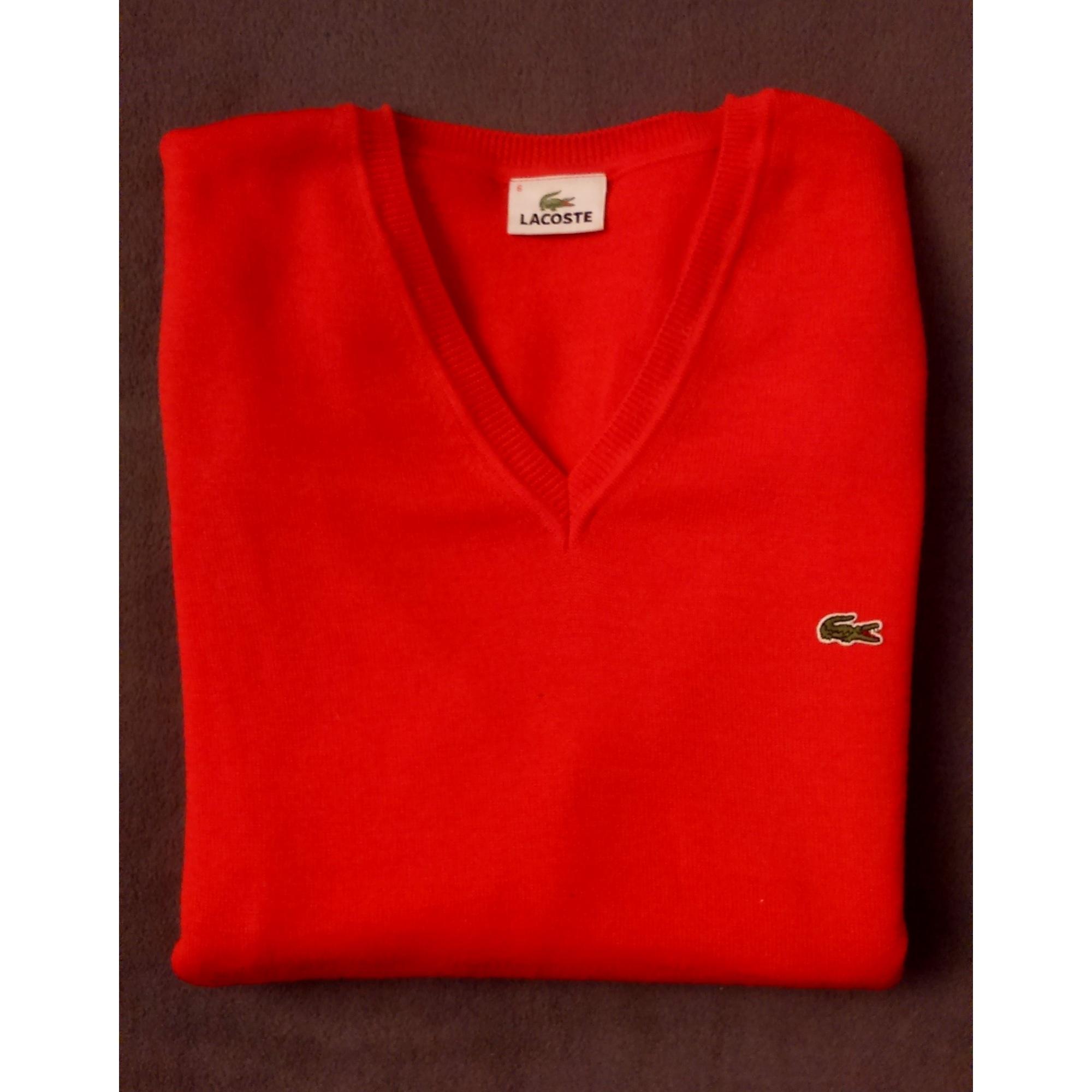 e4b6a59e86 Pull LACOSTE 4 (XL) rouge vendu par Facqt - 6927153