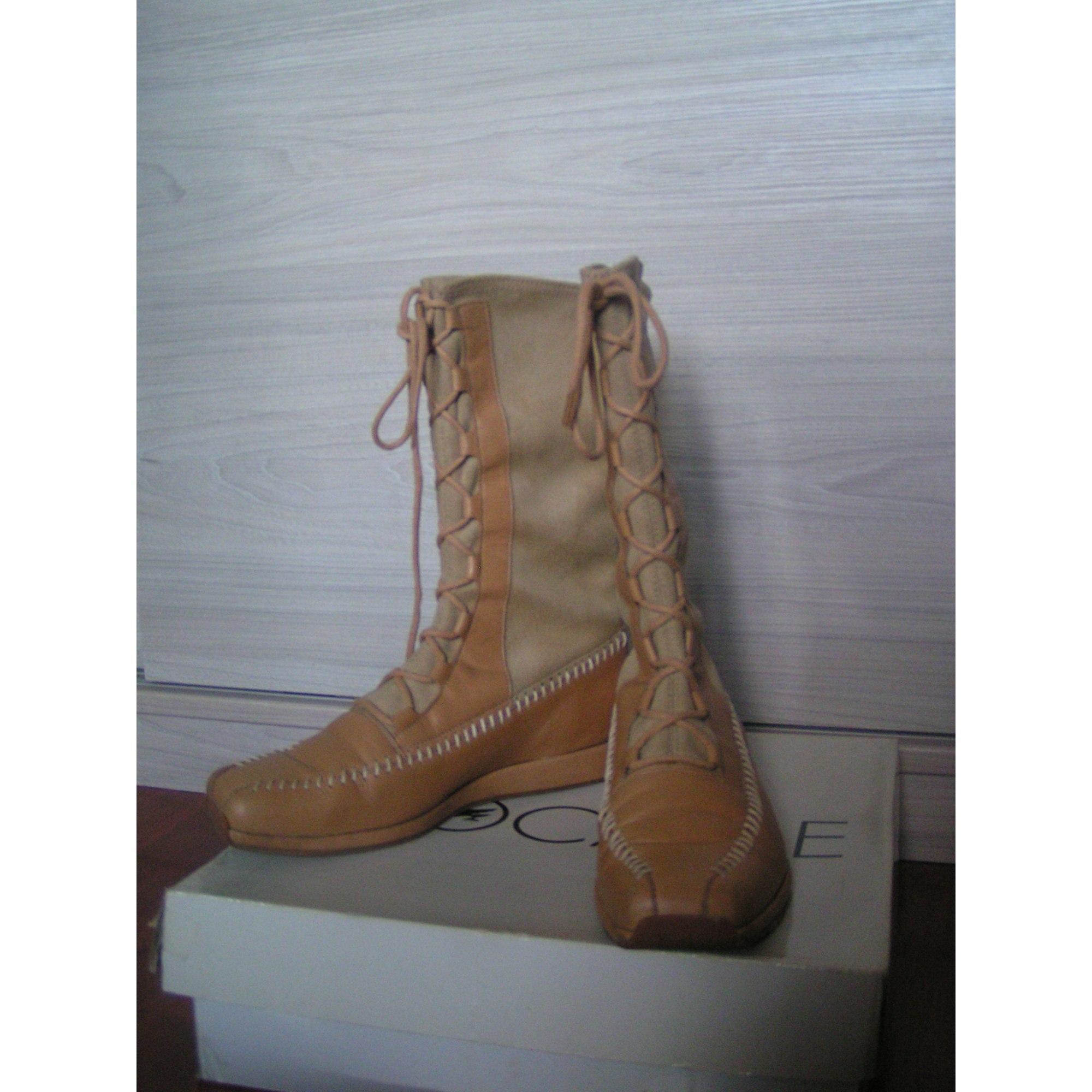 d3965ca6efb Bottines   low boots plates BOCAGE 37 beige - 6947330