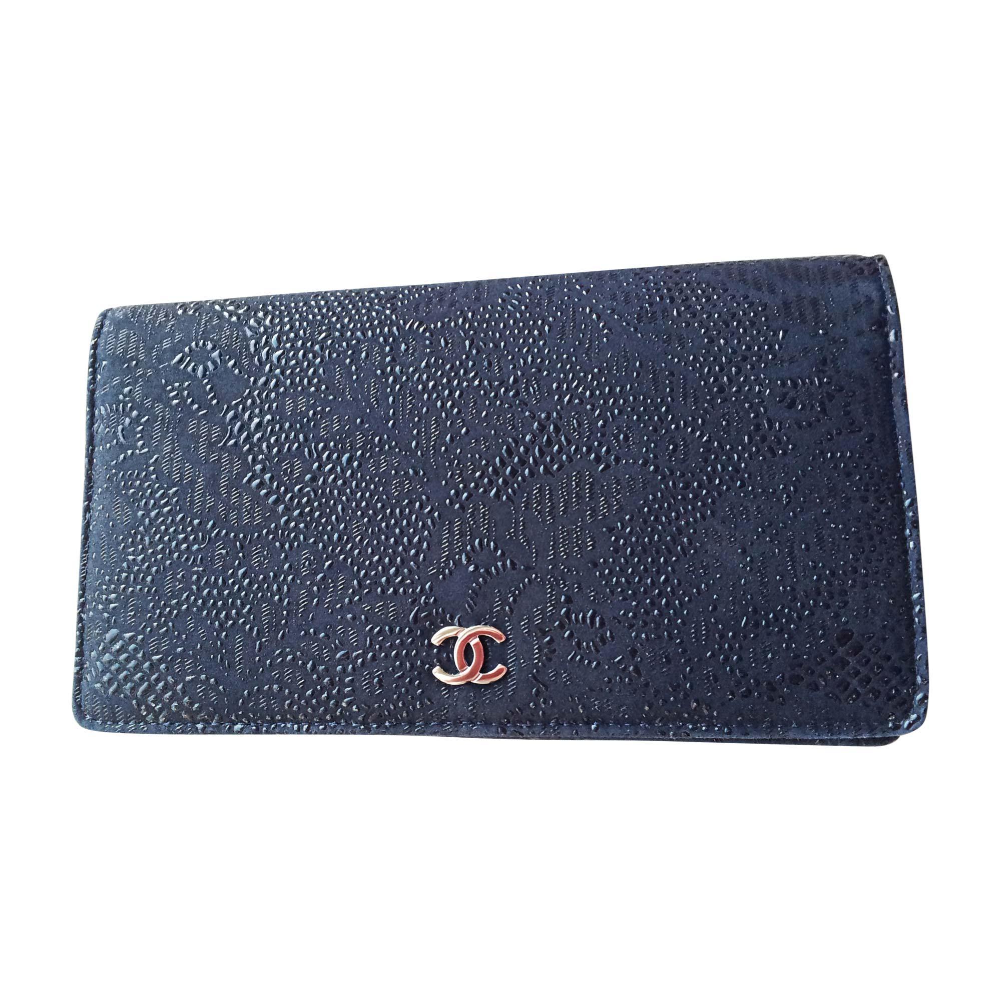 Portefeuille CHANEL Bleu, bleu marine, bleu turquoise 9d6f928b045